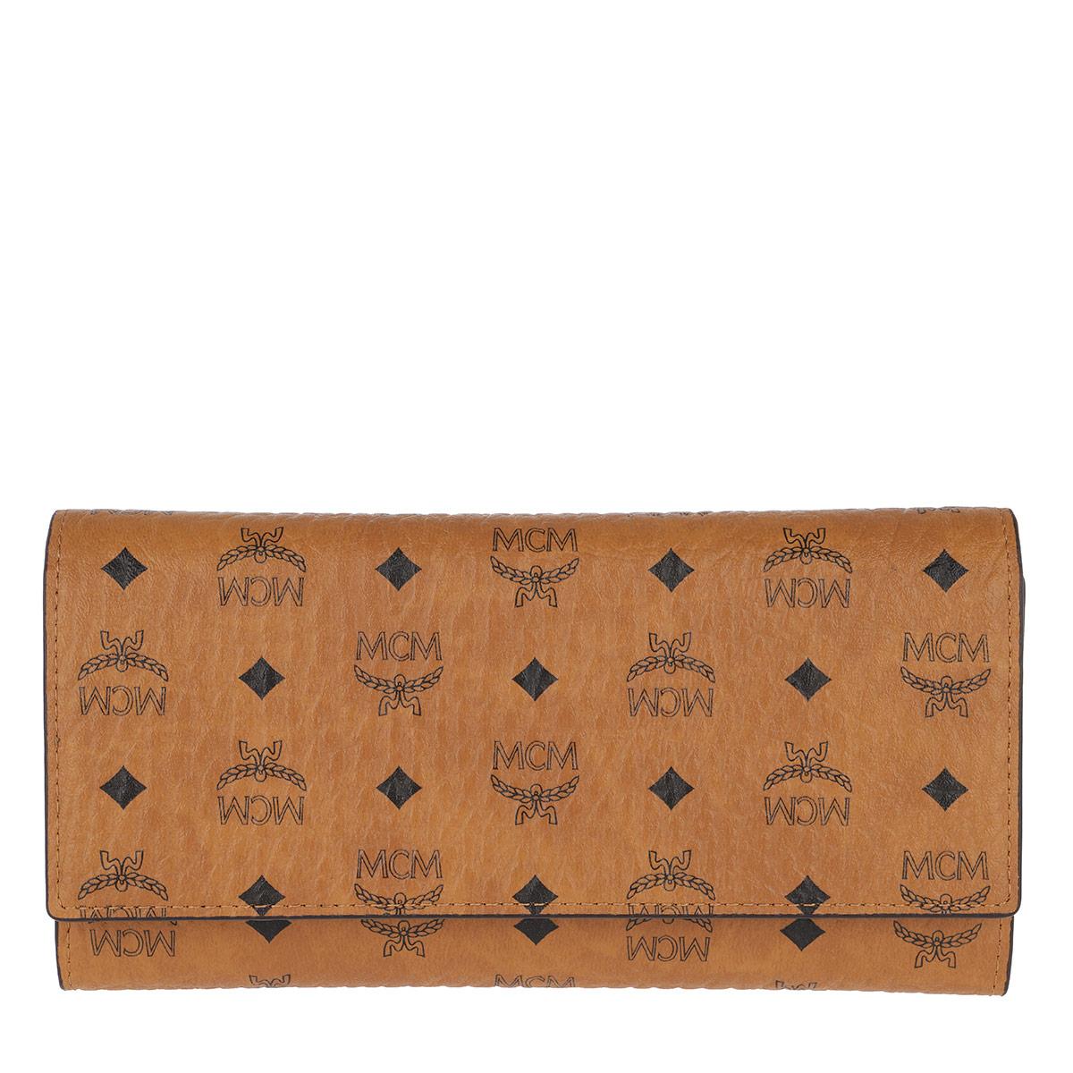 MCM Portemonnaie - Visetos Original Flap Wallet Large Cognac - in cognac - für Damen