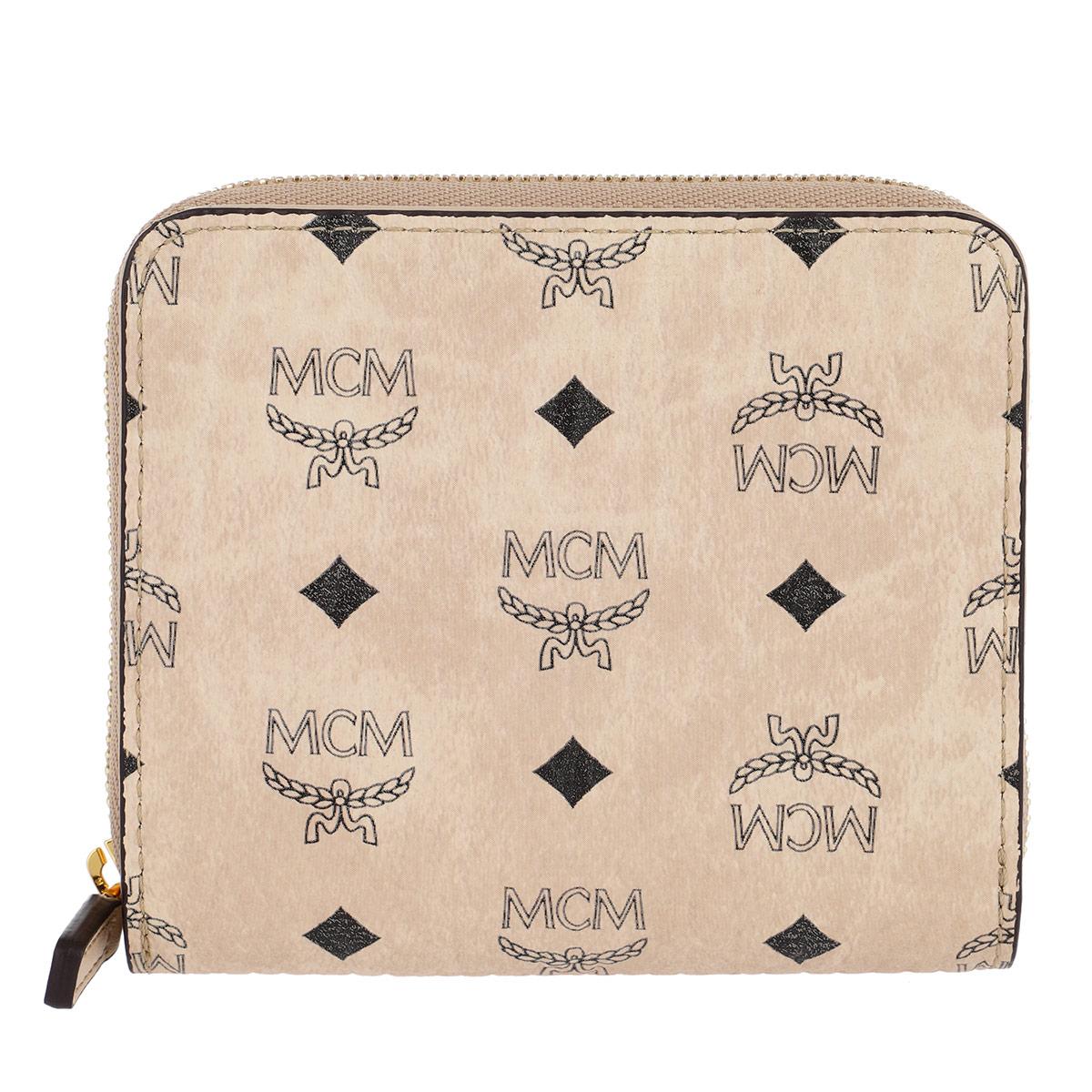 MCM Portemonnaie - Visetos Original Zip Wallet Mini Beige - in beige - für Damen