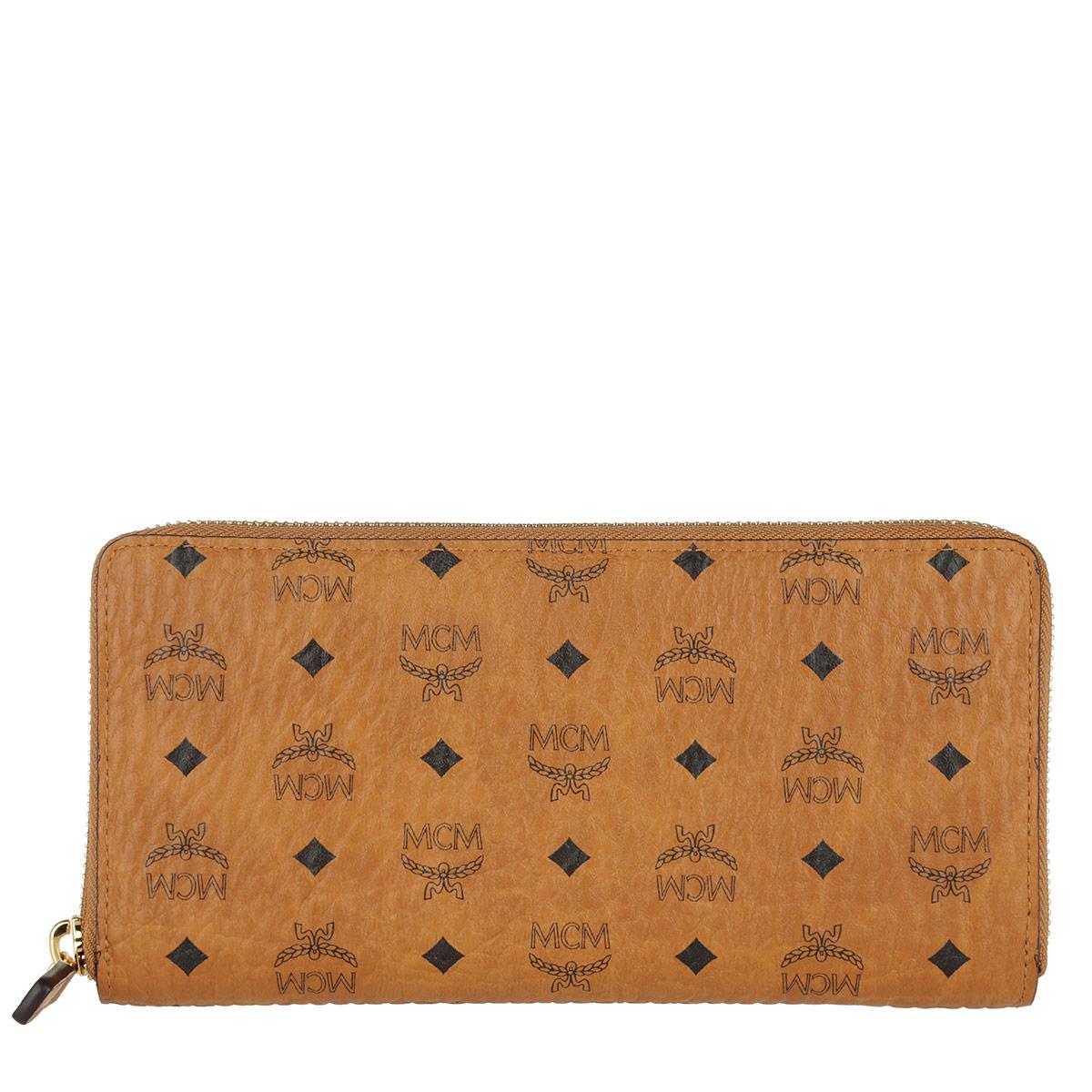 MCM Portemonnaie - Visetos Original Zipped Wallet Large Cognac - in cognac - für Damen