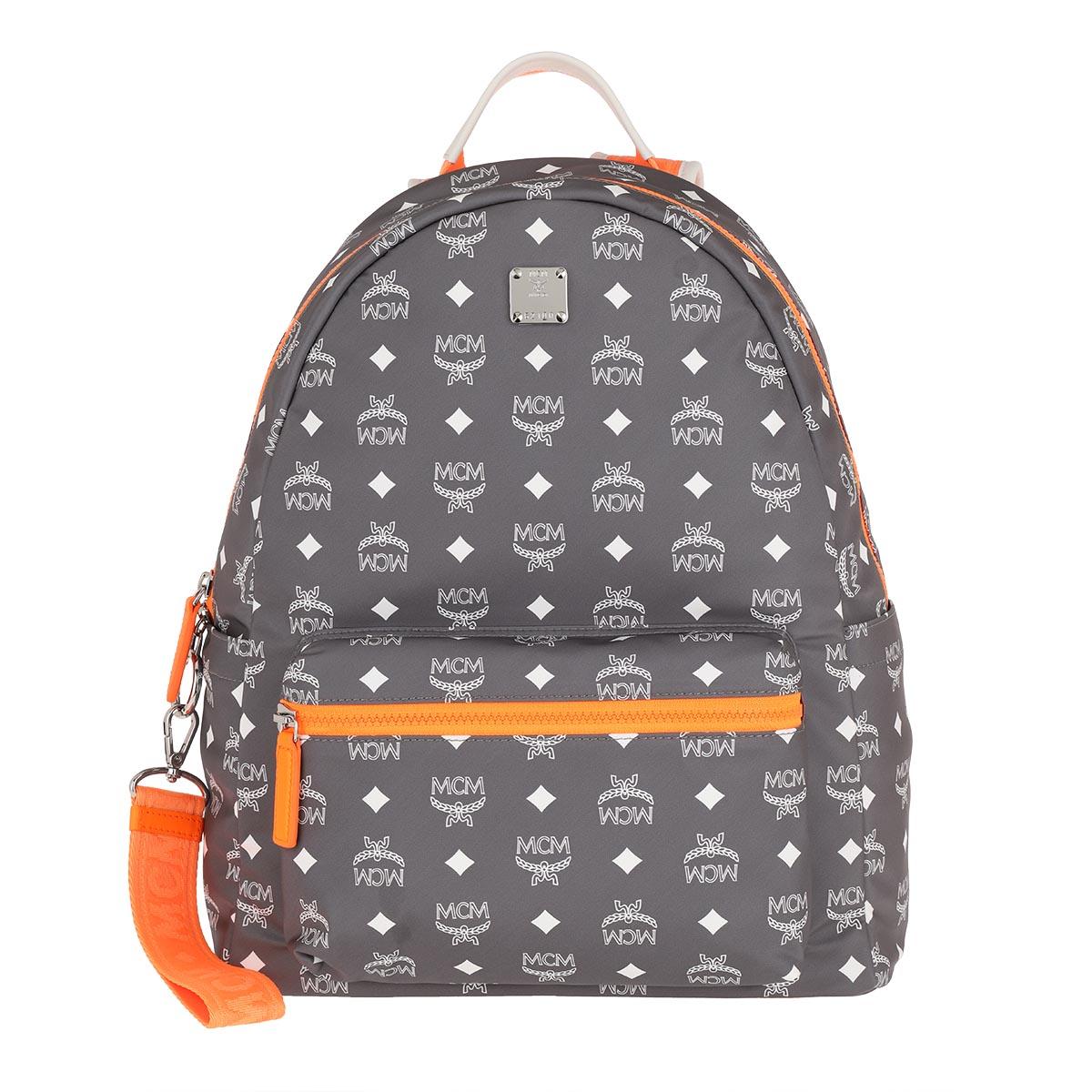 MCM Rucksack - Backpack Med Smoked Pearl - in grau - für Damen