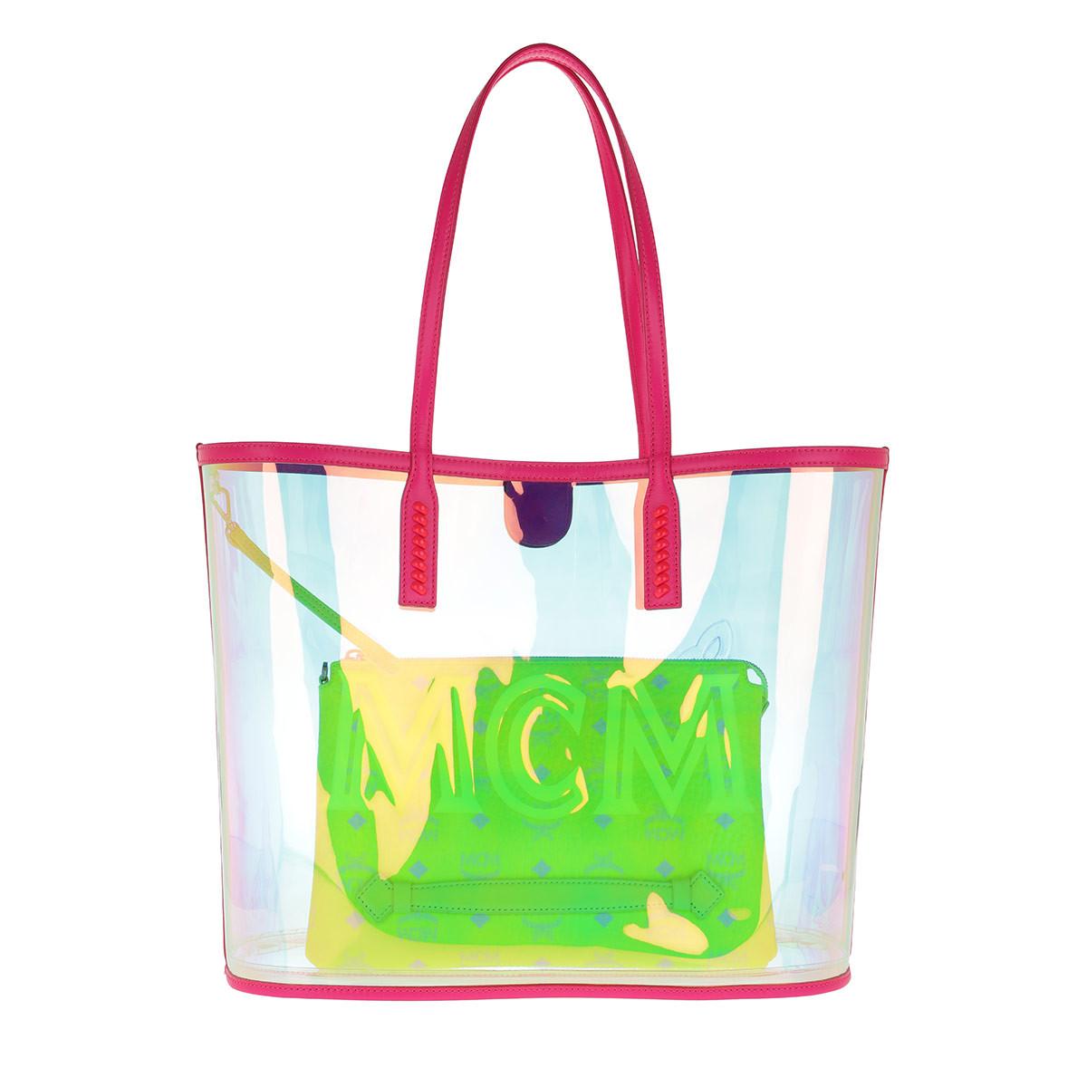 MCM Shopper - Flo Shopper Medium Neon Pink - in bunt - für Damen