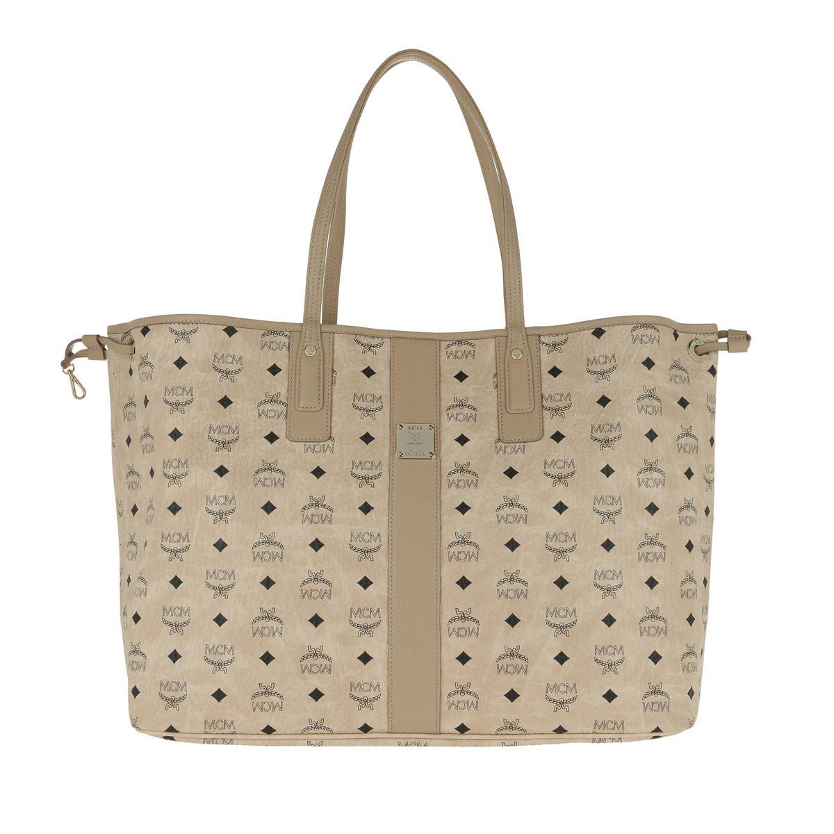MCM Shopper - Liz Reversible Shopper Large Beige - in beige - für Damen