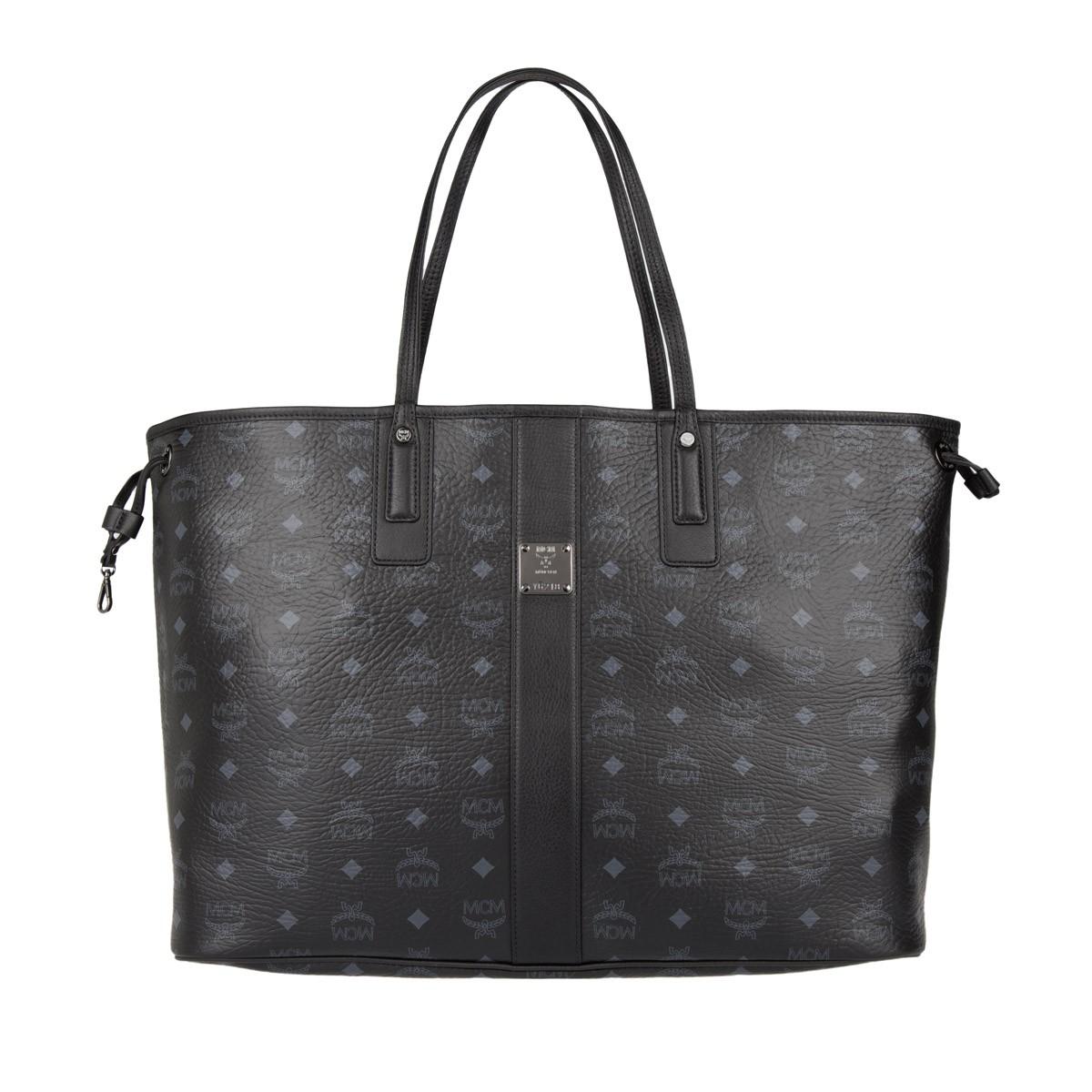 MCM Shopper - Project Visetos Reversible Shopper Large Black - in grau - für Damen