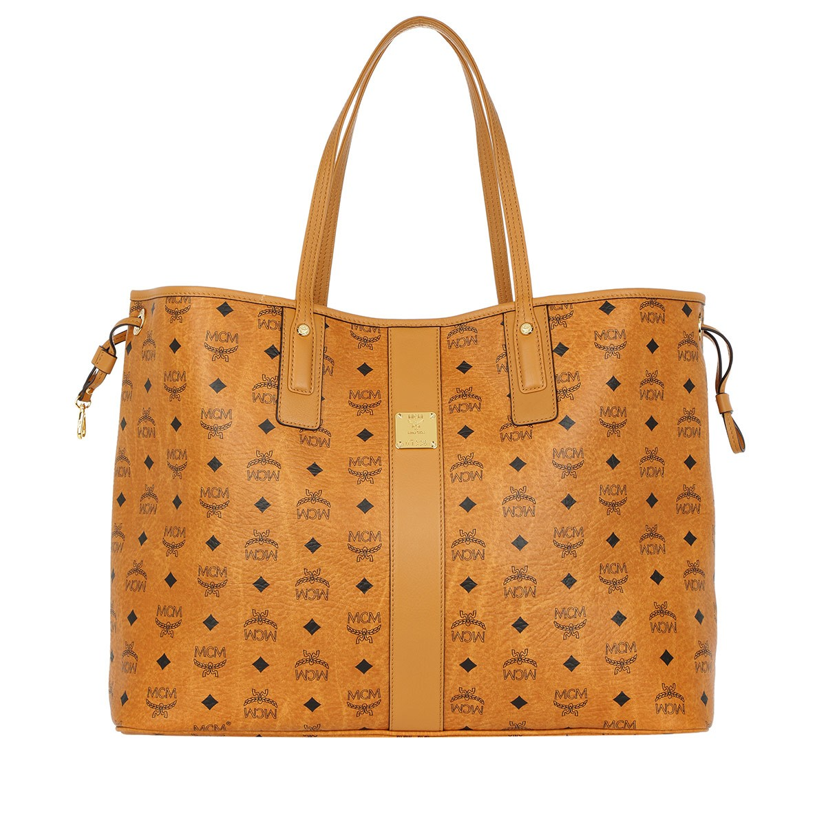 MCM Shopper - Project Visetos Reversible Shopper Large Cognac - in cognac - für Damen
