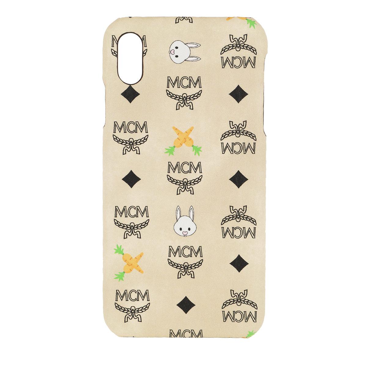 MCM Smartphone Hülle - Rabbit iPhone Case XS Max Beige - in beige - für Damen