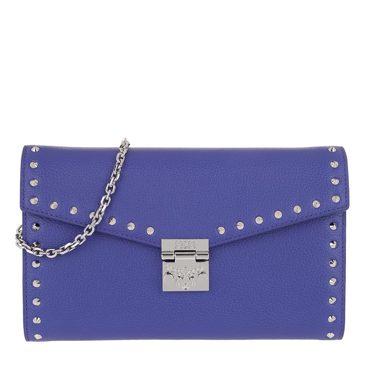 MCM Umhängetasche - Large Continental Wallet Spectrum Blue - in blau - für Damen