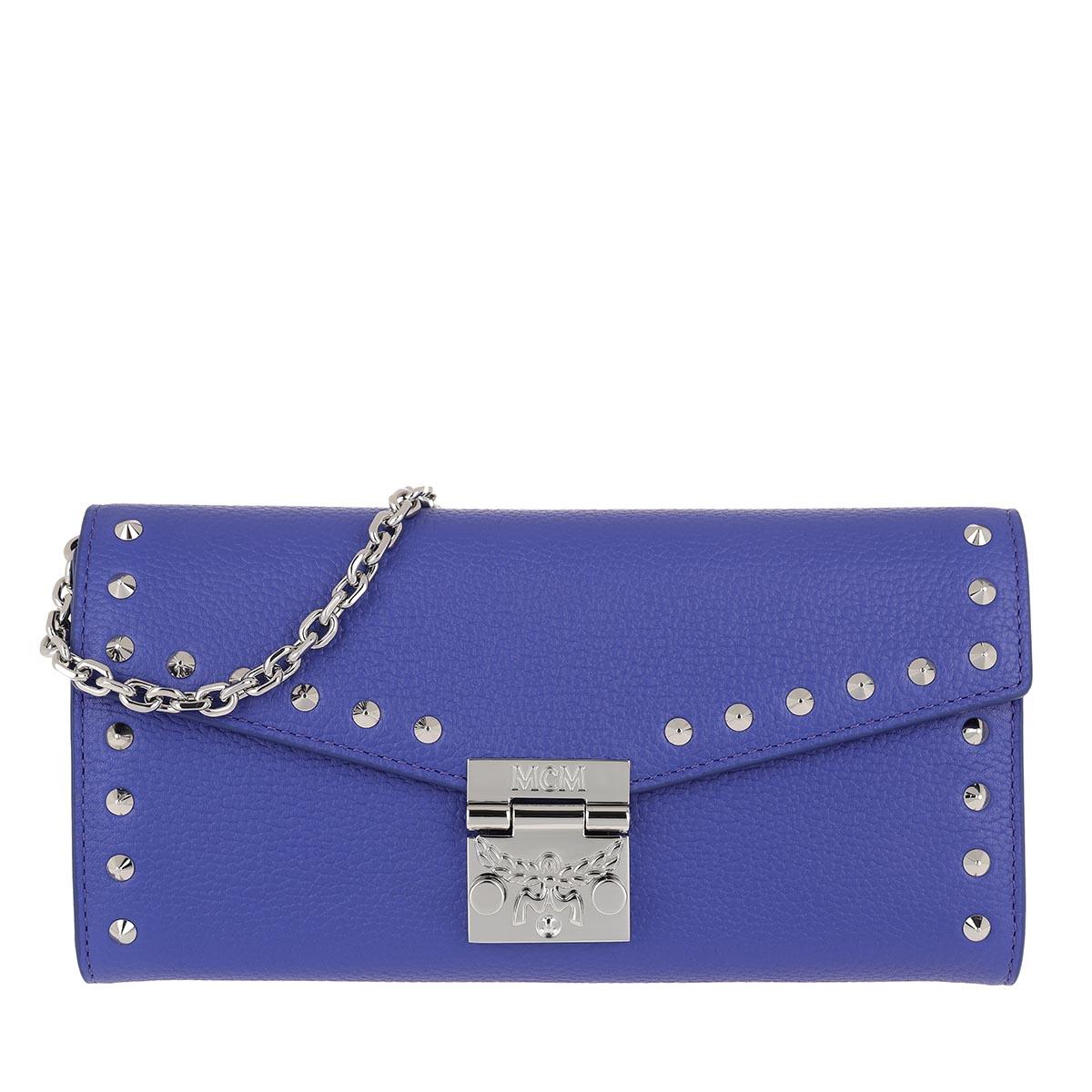 MCM Umhängetasche - Large Wallet W Spectrum Blue - in blau - für Damen