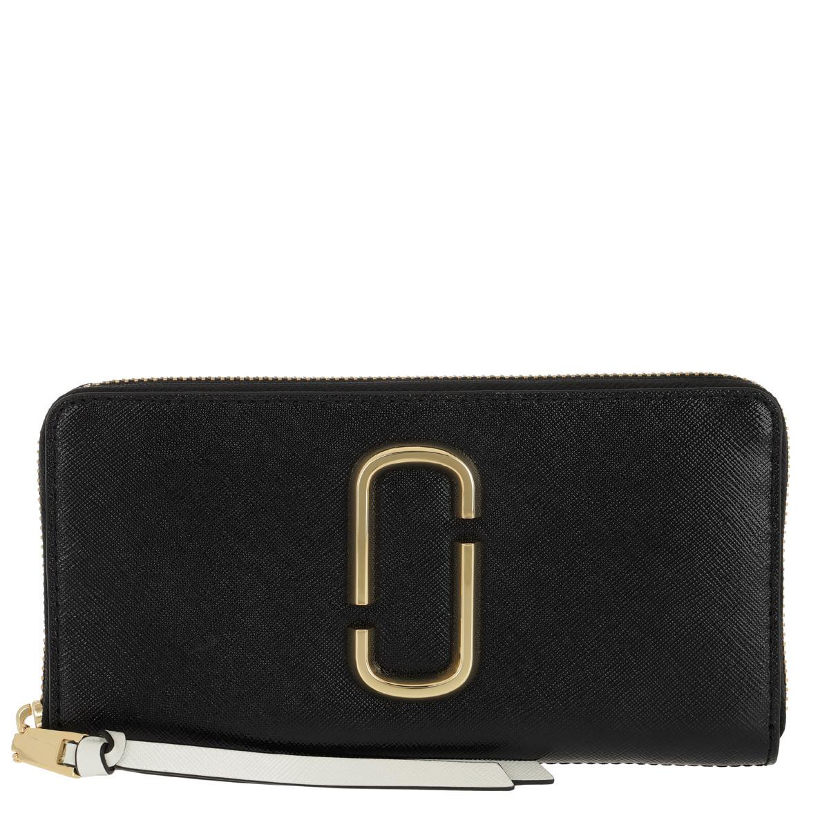 Marc Jacobs Portemonnaie - Snapshot Standard Continental Wallet Leather Black/Multi - in schwarz - für Damen