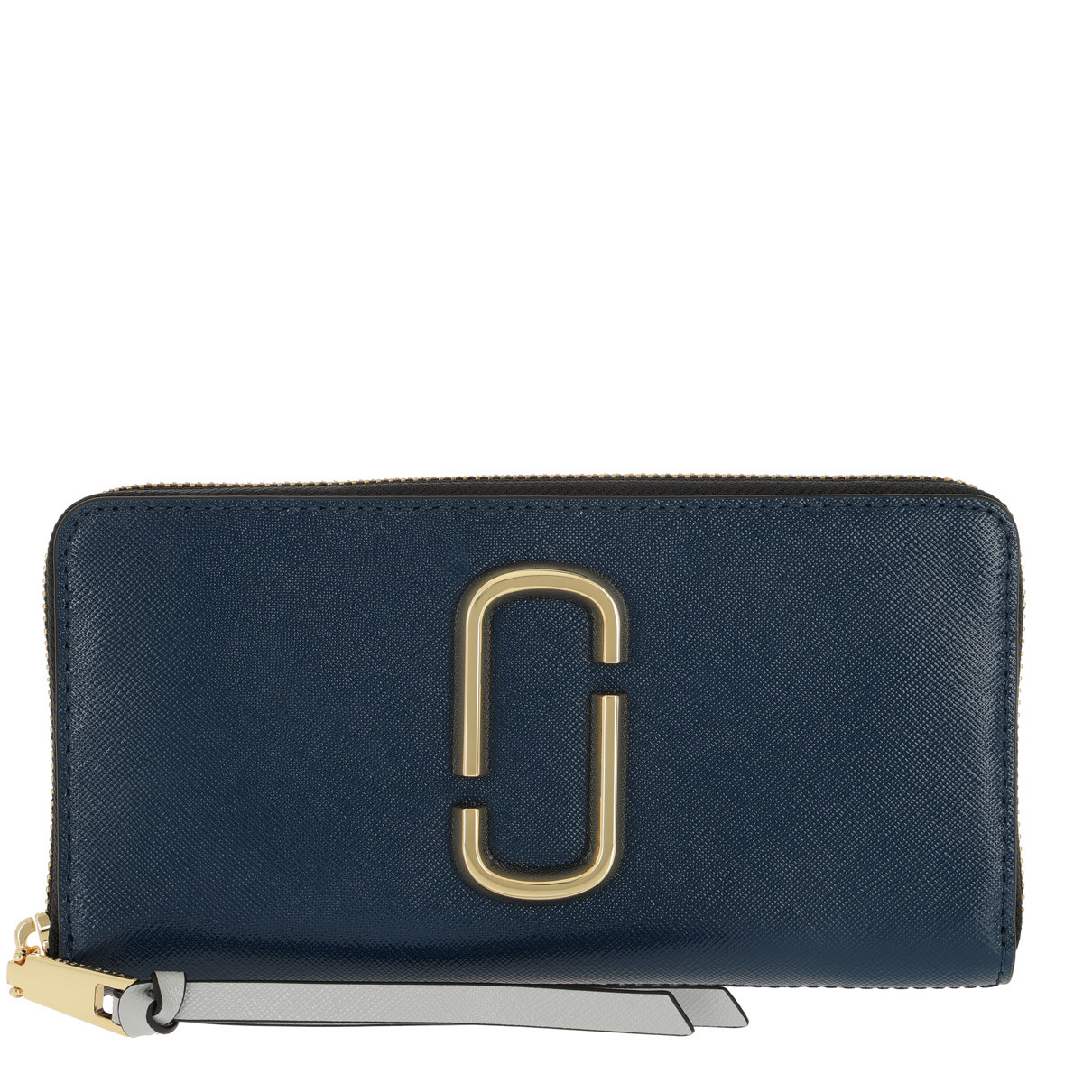 Marc Jacobs Portemonnaie - Snapshot Standard Continental Wallet Leather Blue Sea - in blau - für Damen