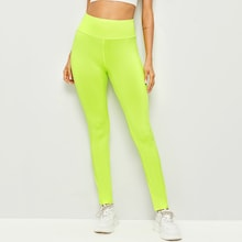 Neon Lime Criss-cross Leggings