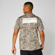 Oversized T-Shirt mit Koordinaten - Camouflage - XS