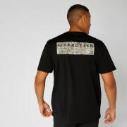 Oversized T-Shirt mit Koordinaten - Schwarz Camouflage - XS