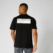 Oversized T-Shirt mit Koordinaten - Schwarz - XS