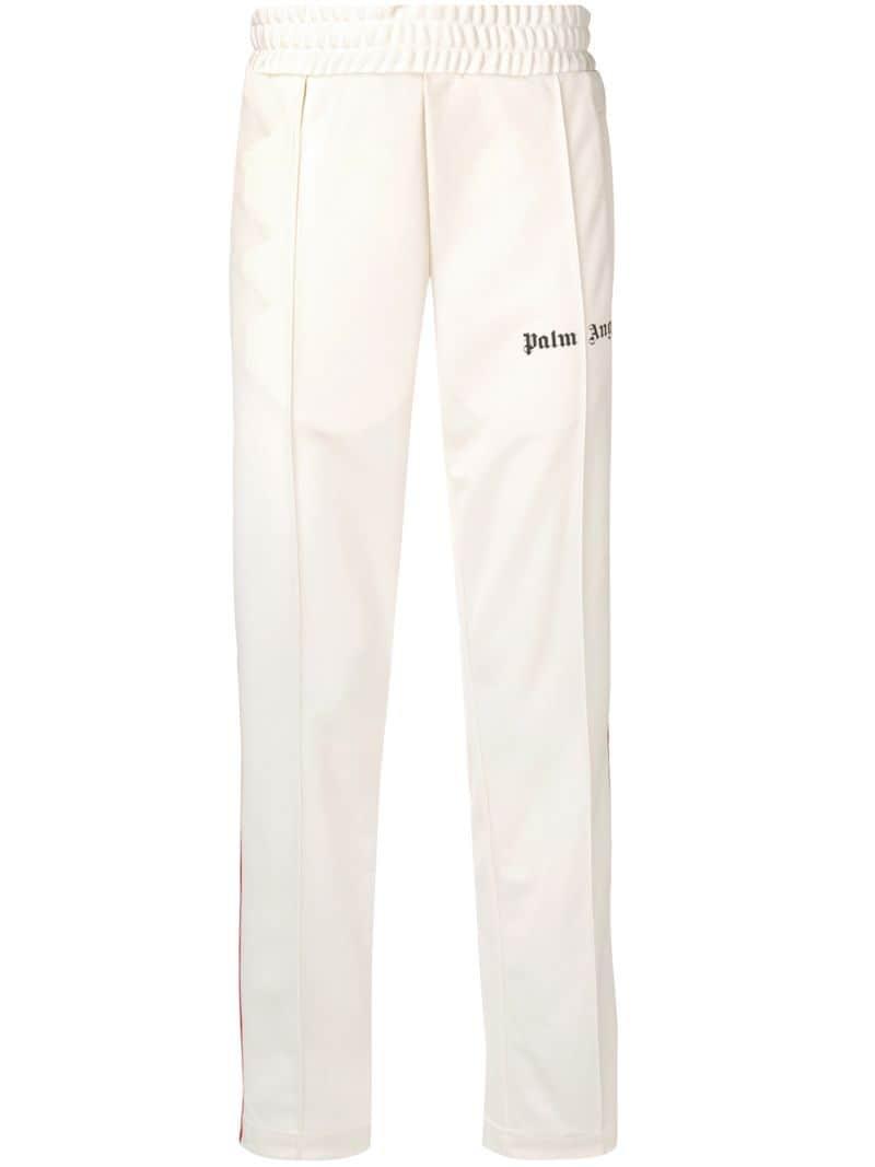 100% authentifiziert Waren des täglichen Bedarfs heiß-verkauf echt Palm Angels rainbow stripe track pants - White
