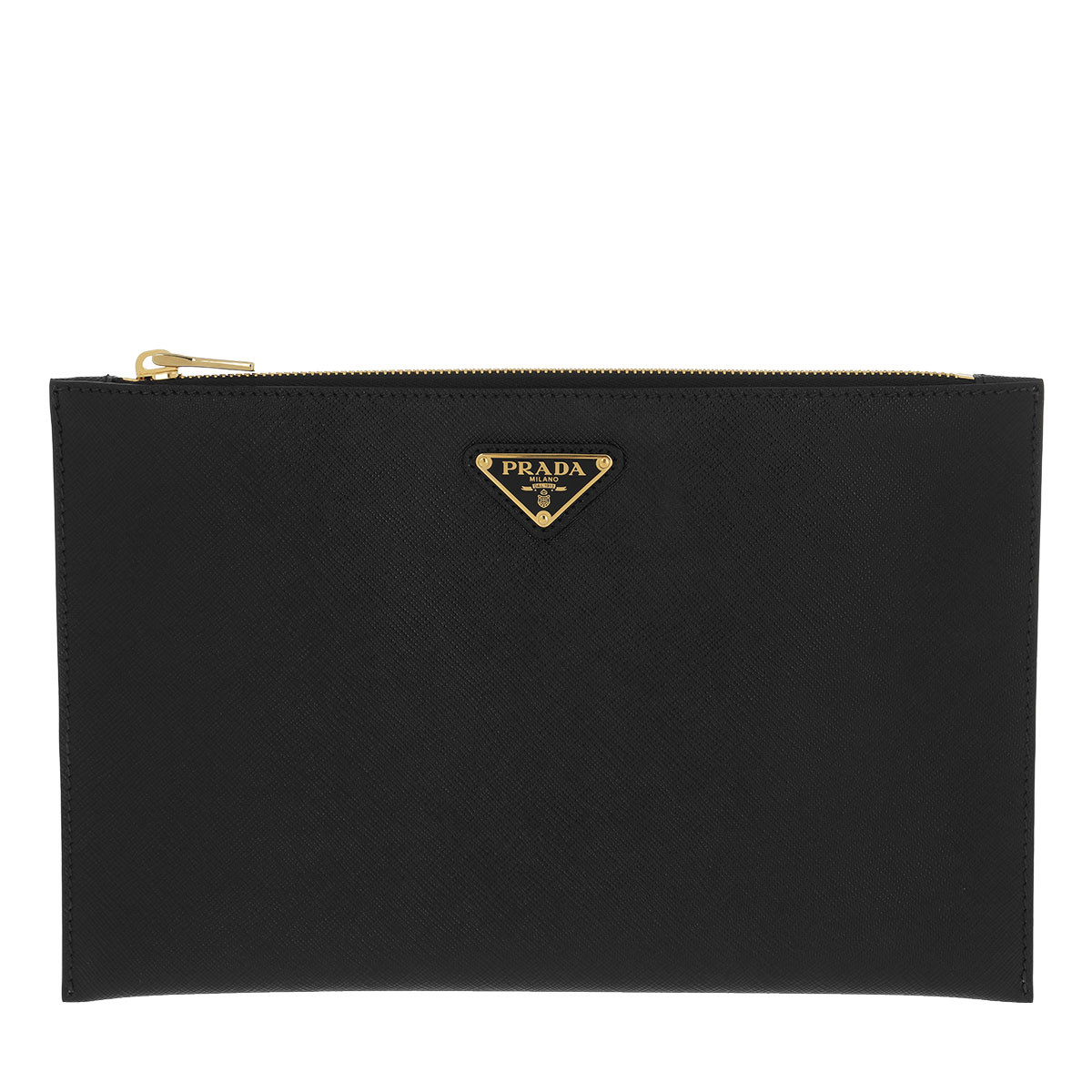 Prada Clutch - Small Clutch Saffiano Leather Black - in schwarz - für Damen