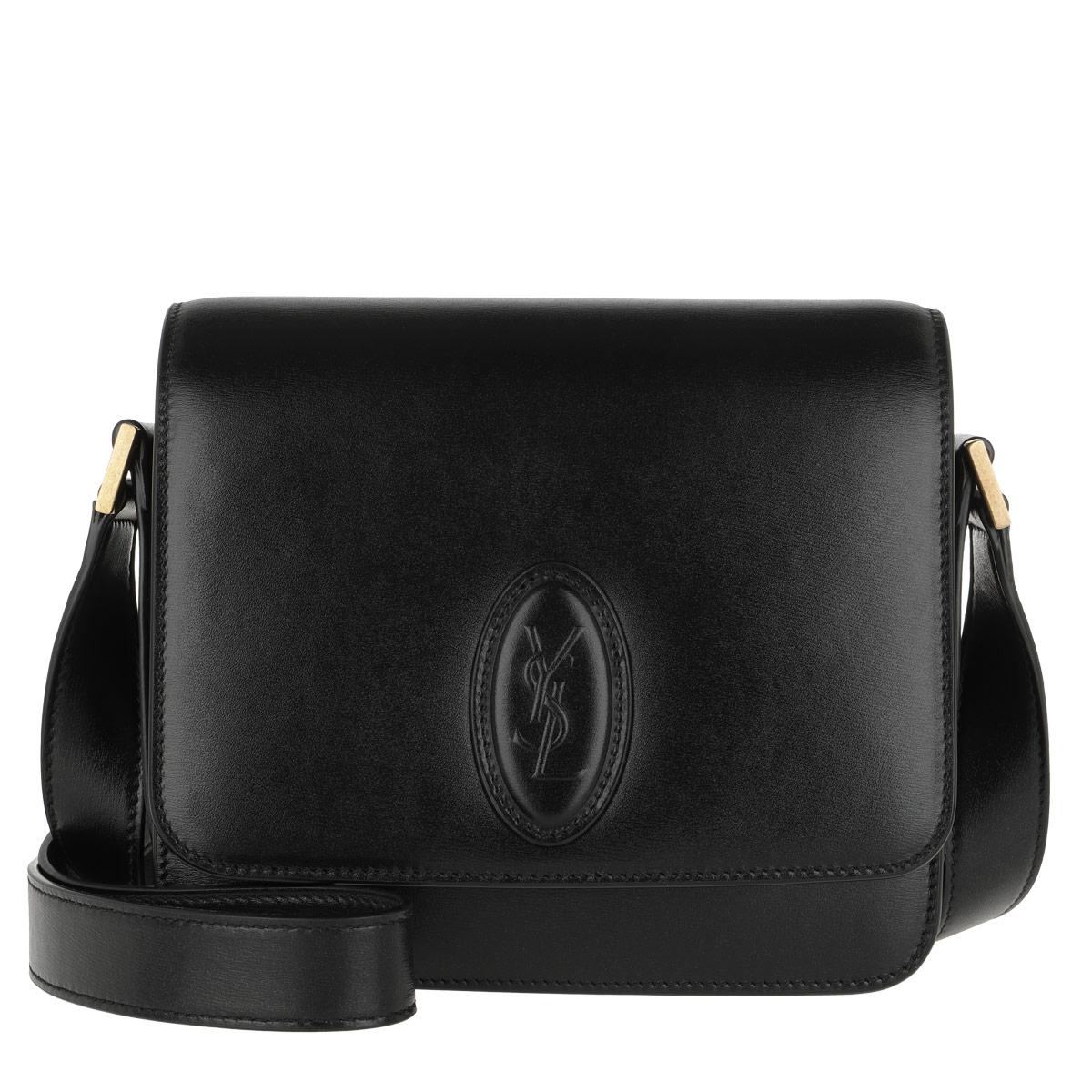 Saint Laurent Umhängetasche - LE 61 Small Saddle Bag Smooth Leather Black - in schwarz - für Damen