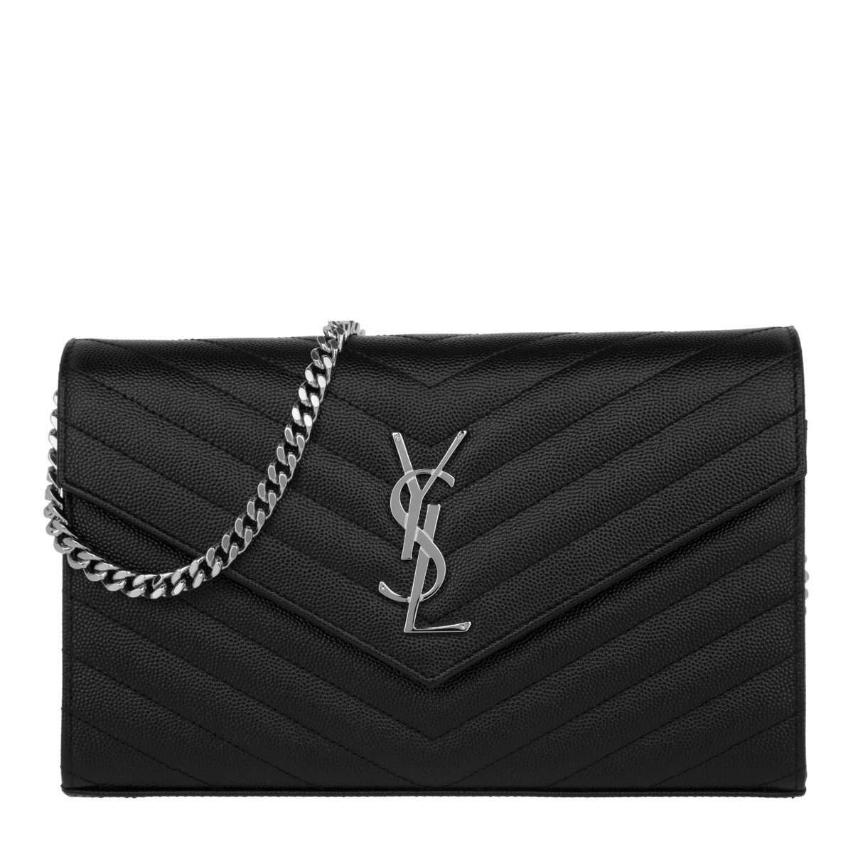 Saint Laurent Umhängetasche - YSL Chain Wallet Monogramme Envelope Nero - in schwarz - für Damen