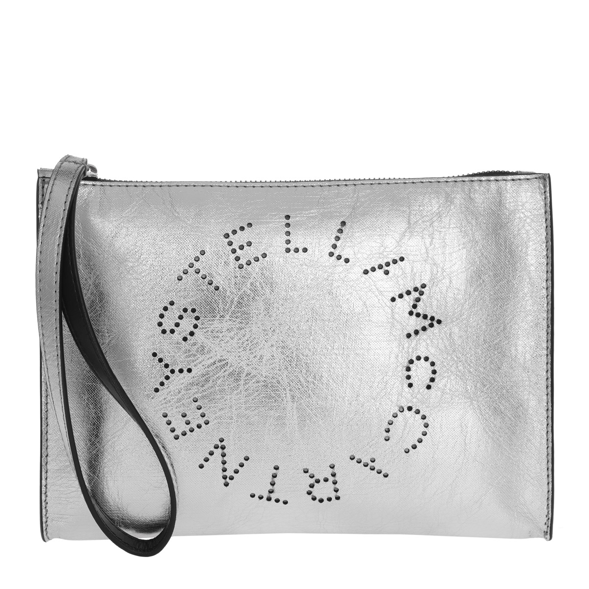 Stella McCartney Clutch - Stella Logo Clutch Silver - in silber - für Damen