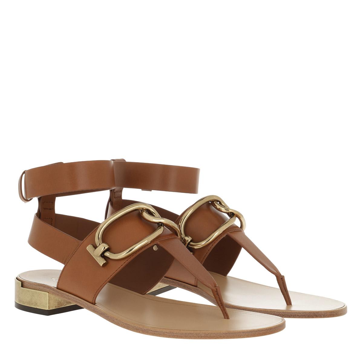 online store 46167 dfc54 Tod's Sandalen - T-Bar Sandals Cognac - in cognac - für Damen