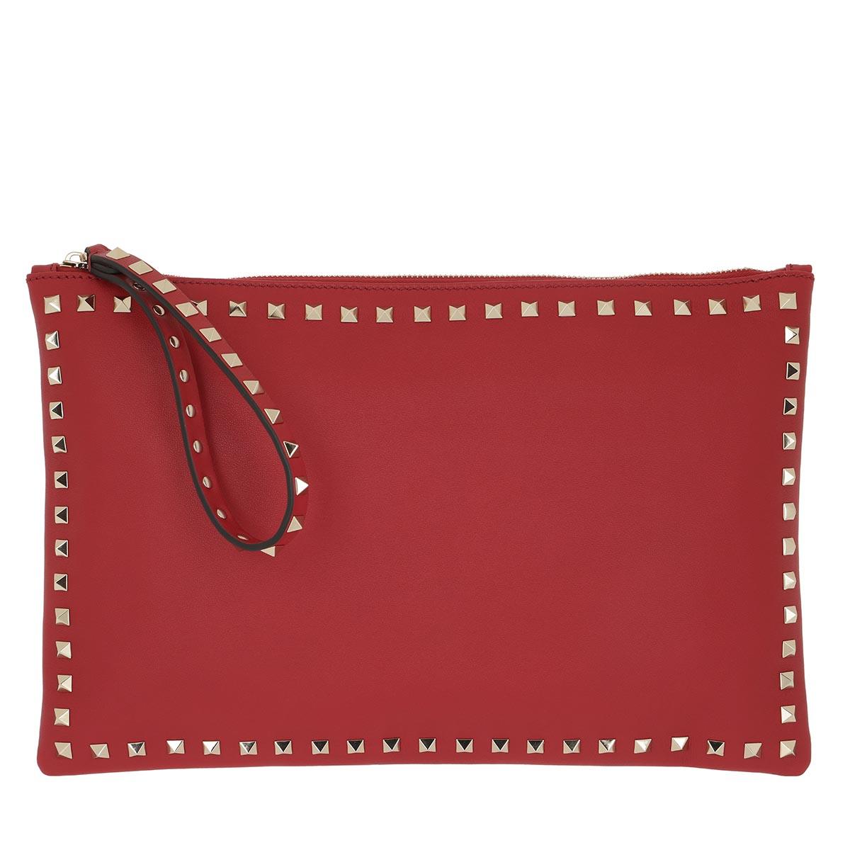 Valentino Clutch - Rockstud Clutch Small Rosso - in rot - für Damen