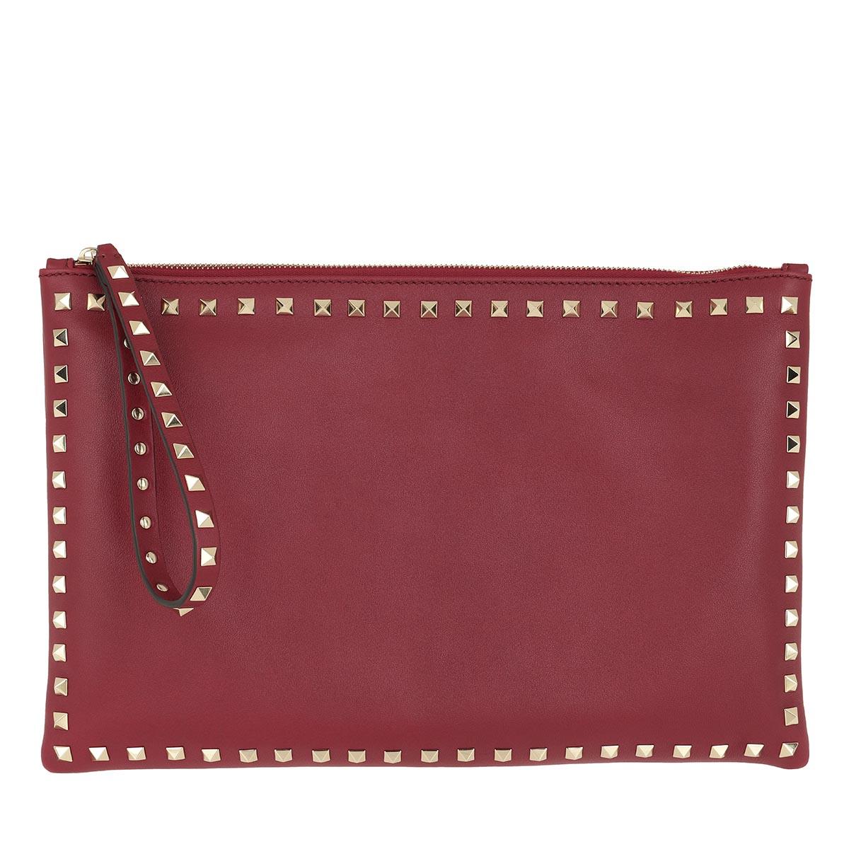 Valentino Clutch - Rockstud Clutch Small Rubino - in rot - für Damen