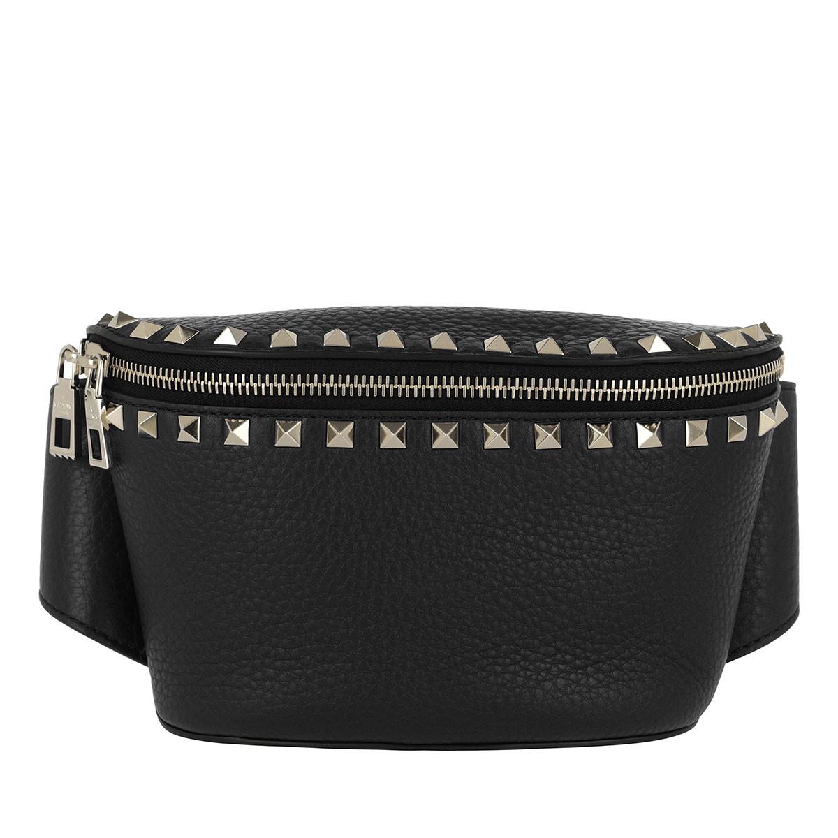 Valentino Gürteltasche - Rockstud Belt Bag Calf Leather Nero - in schwarz - für Damen