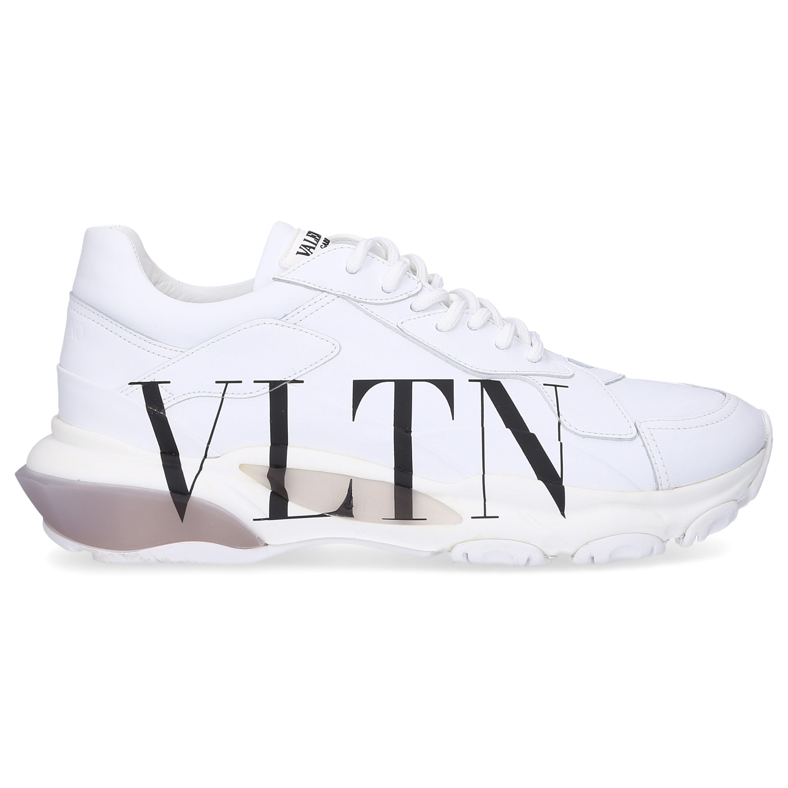 Valentino Sneaker low BOUNCE Nappaleder Textil Logo weiß