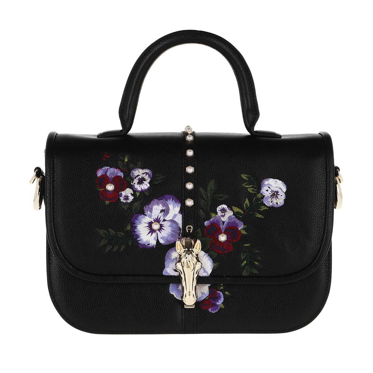 Aigner Satchel Bag - Epona M Handle Bag Black - in schwarz - für Damen