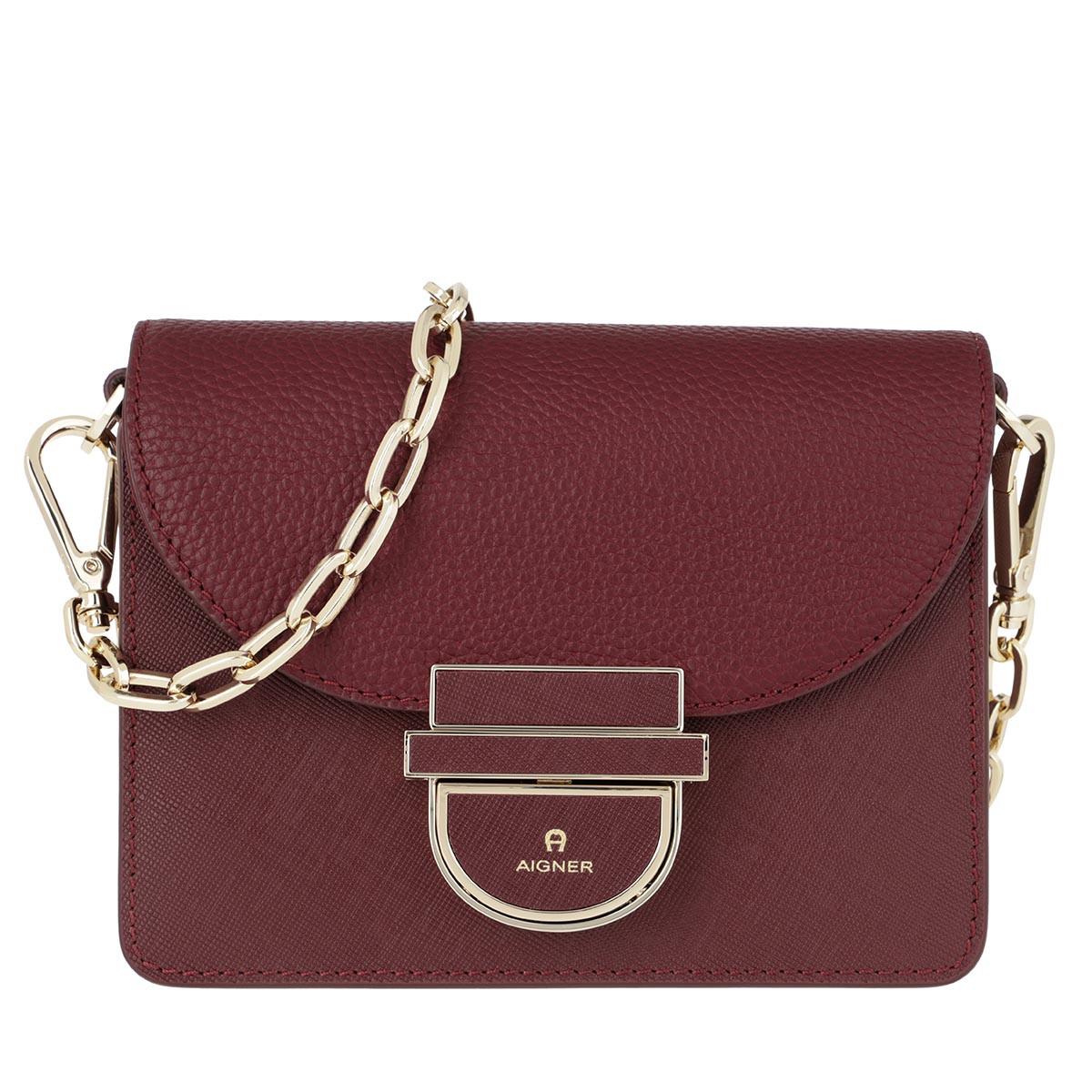 Aigner Umhängetasche - Cosima XS Crossbody Bag Burgundy - in rot - für Damen