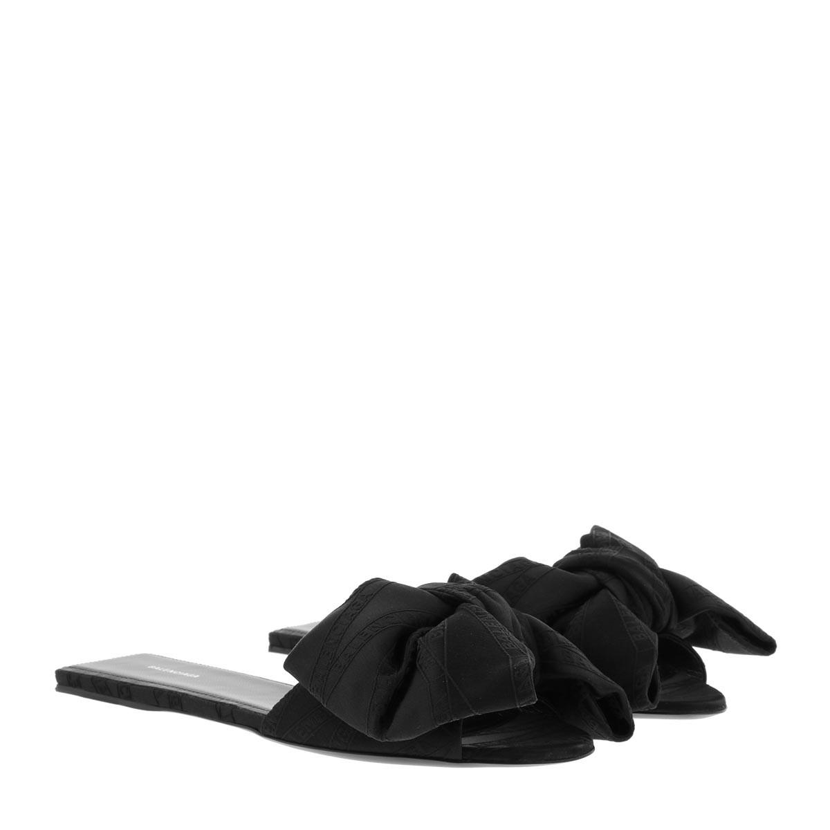 Balenciaga Sandalen - Bow Slides Black - in schwarz - für Damen