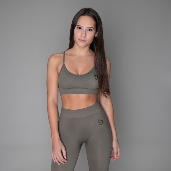 Beyond Limits Seamless Sports Bra Khaki