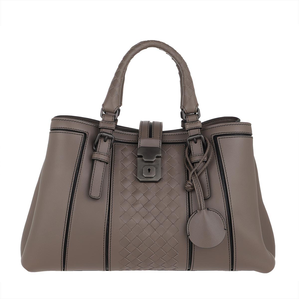 Bottega Veneta Tote - Roma Bag Small Calf Leather Steel - in grau - für Damen