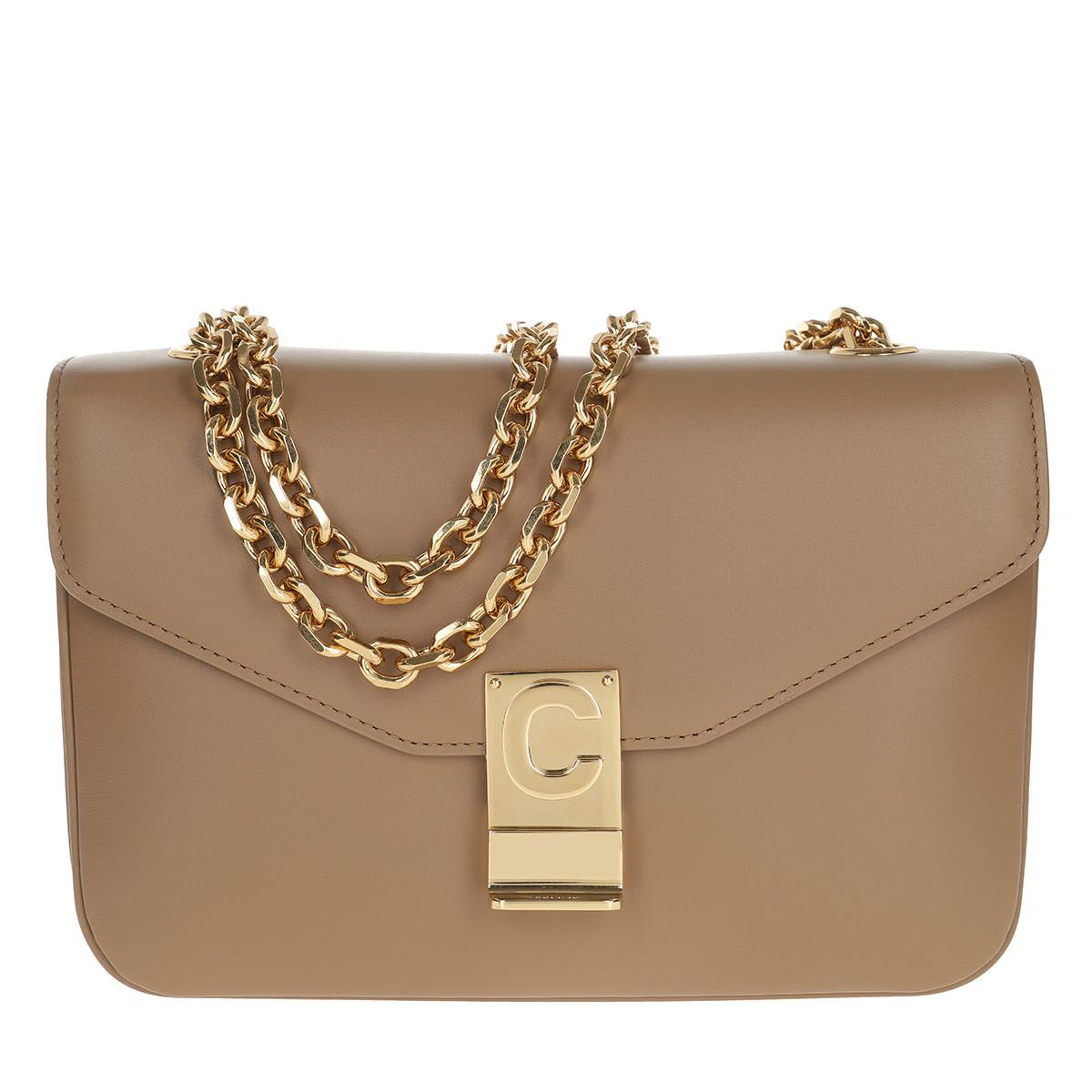 Celine Umhängetasche - C Bag Medium Calfskin Light Camel - in beige - für Damen