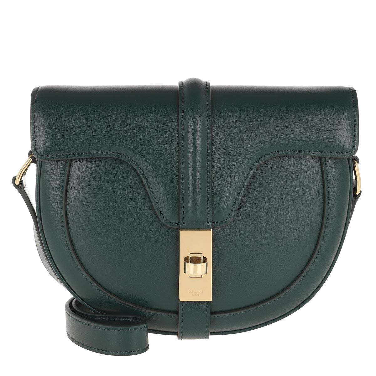 Celine Umhängetasche - Small Besace 16 Bag Satinated Calfskin Amazone - in grün - für Damen