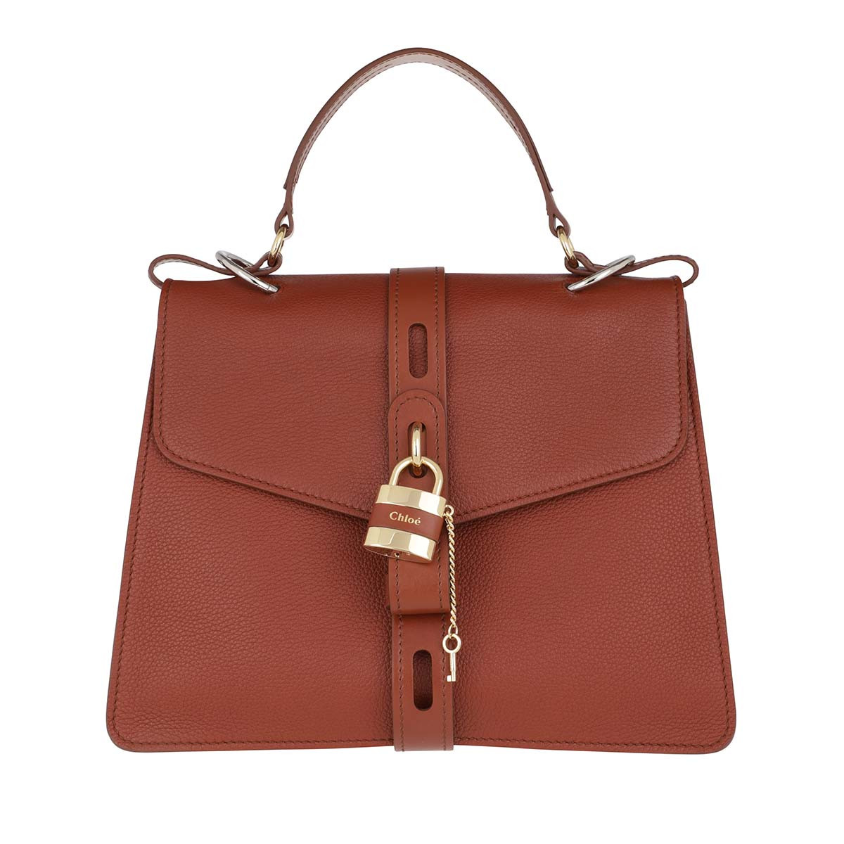 Chloé Satchel Bag - Aby Shoulder Bag Large Leather Sepia Brown - in braun - für Damen
