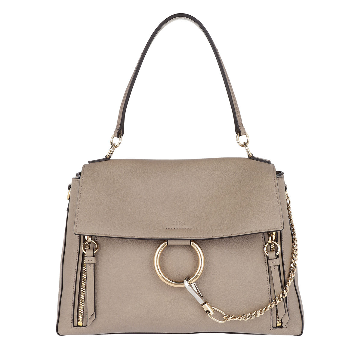 Chloé Satchel Bag - Faye Day Medium Motty Grey - in grau - für Damen