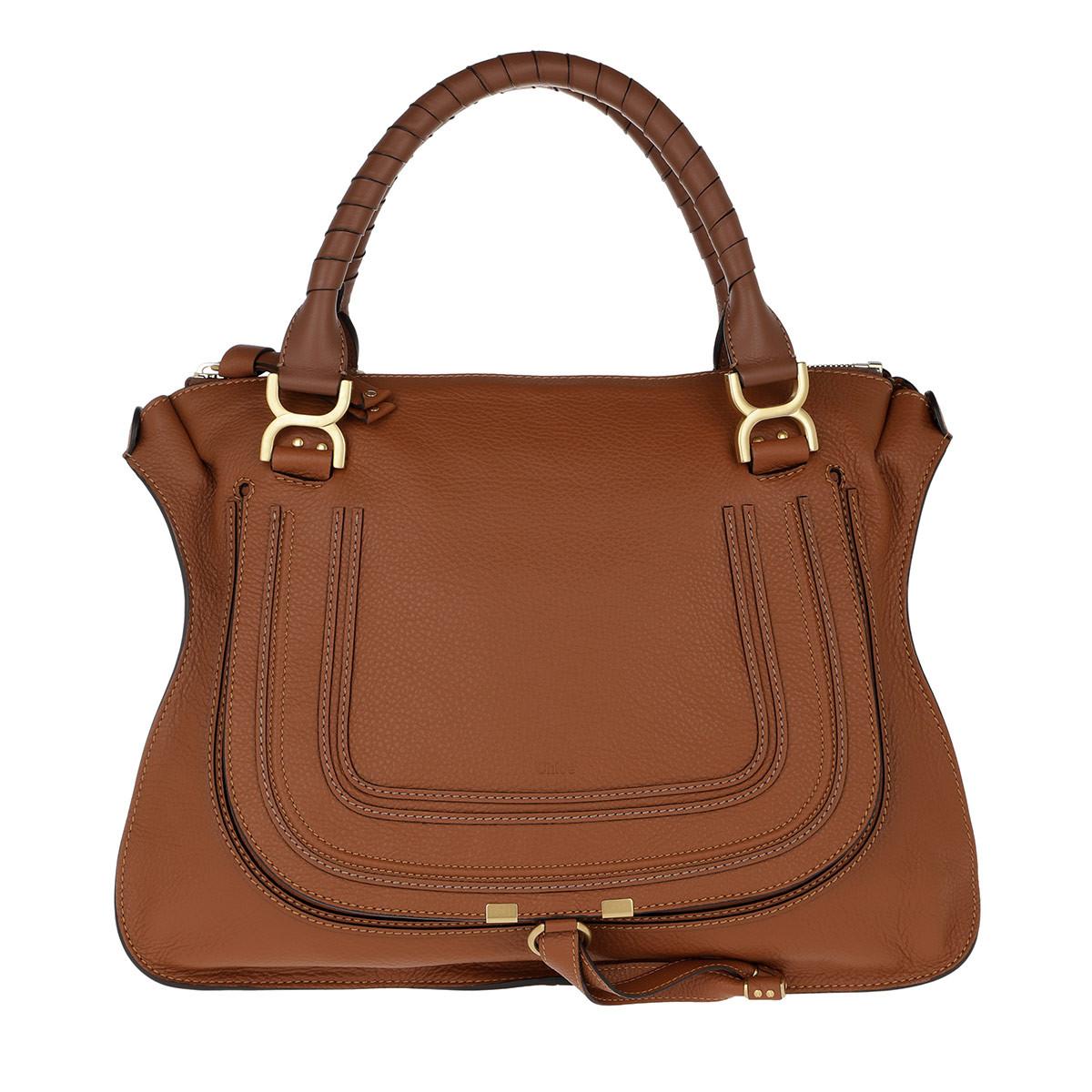 Chloé Satchel Bag - Marcie Large Porte Epaule Tan - in braun - für Damen