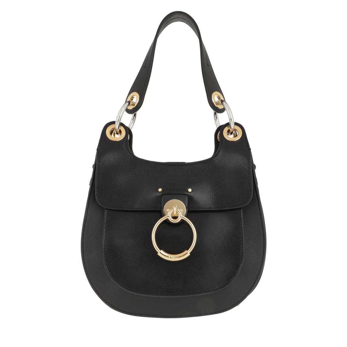 Chloé Satchel Bag - Tess Hobo Bag Leather Black - in schwarz - für Damen
