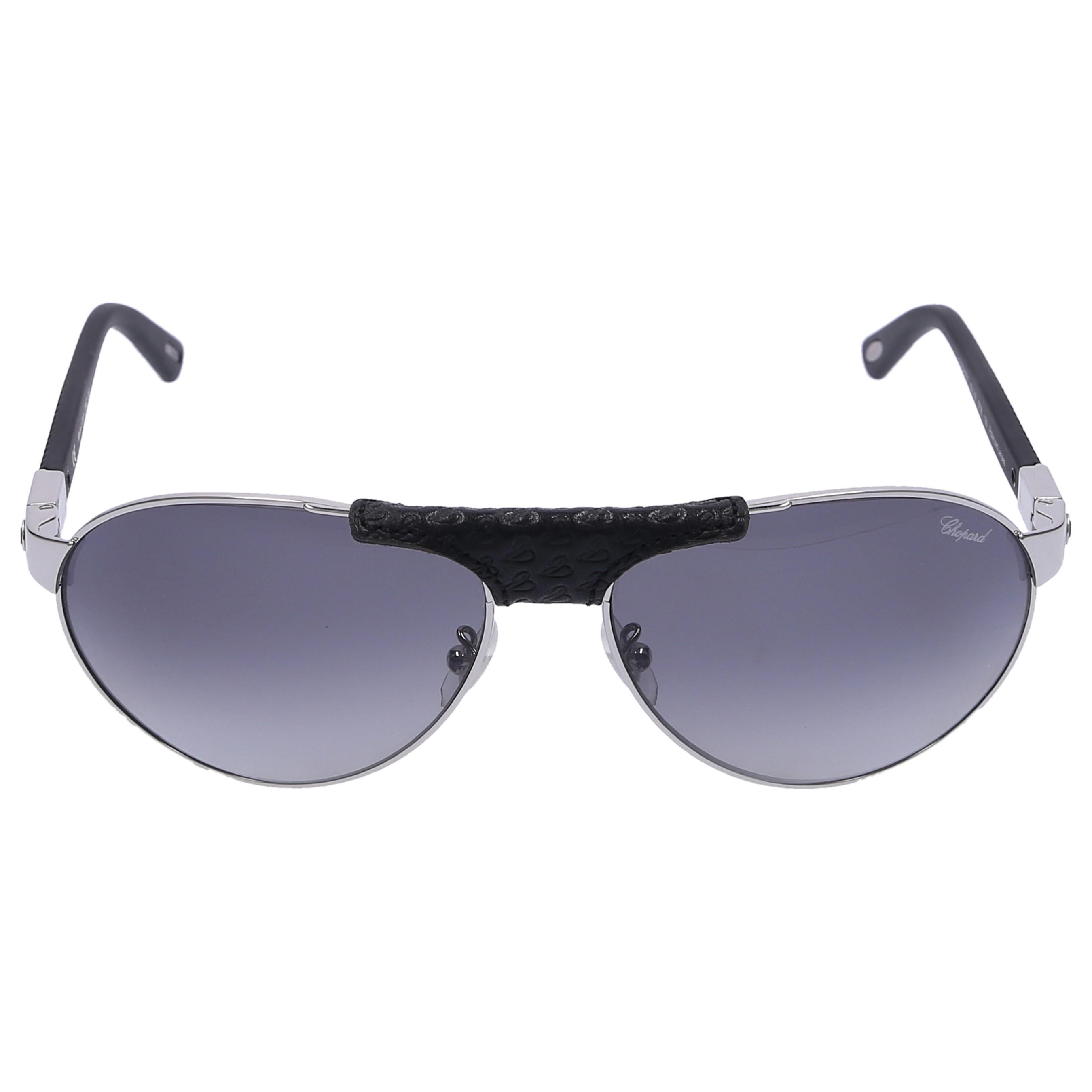 Chopard Sonnenbrille Aviator 931 579Z Metall schwarz