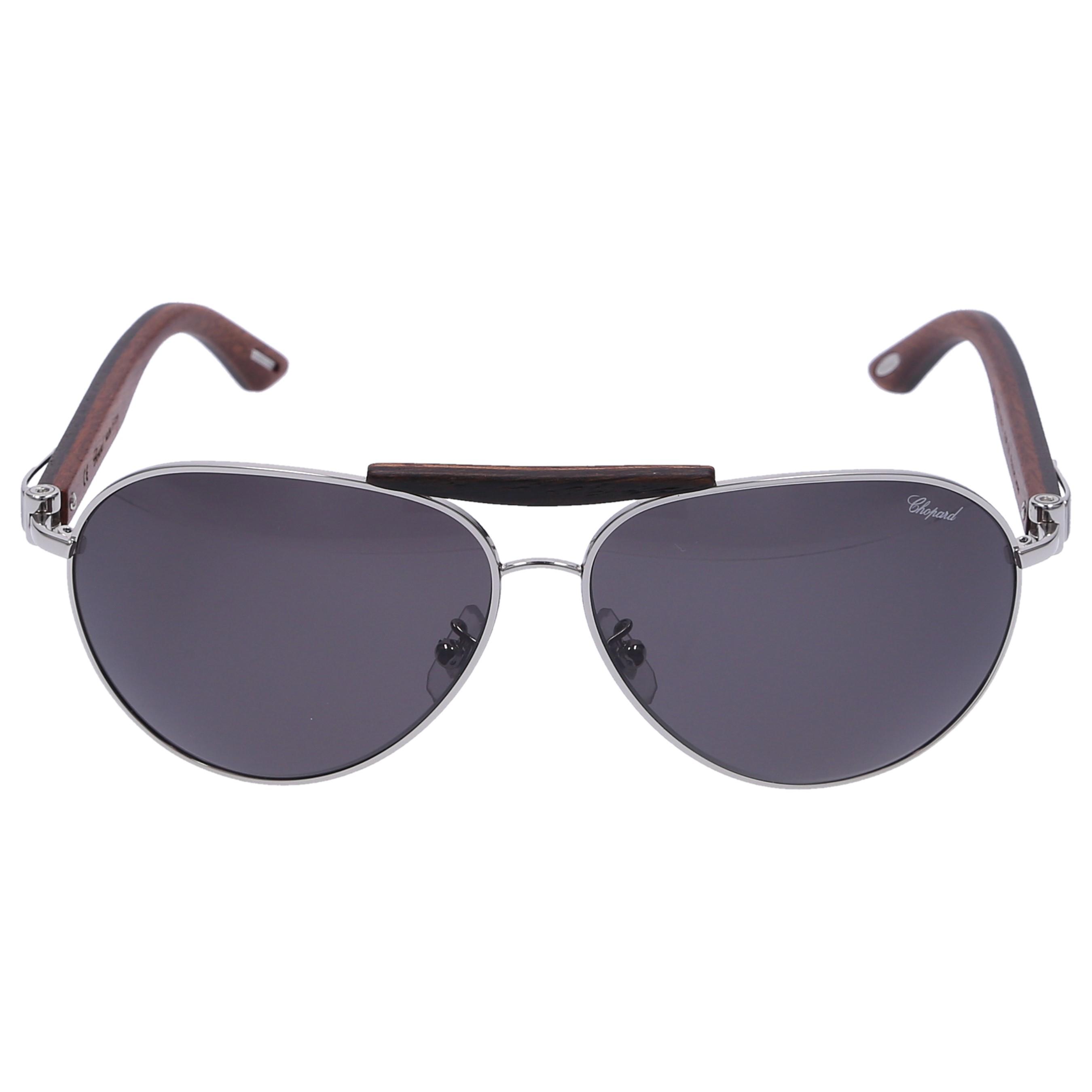 Chopard Sonnenbrille Aviator A55V 579P Holz braun