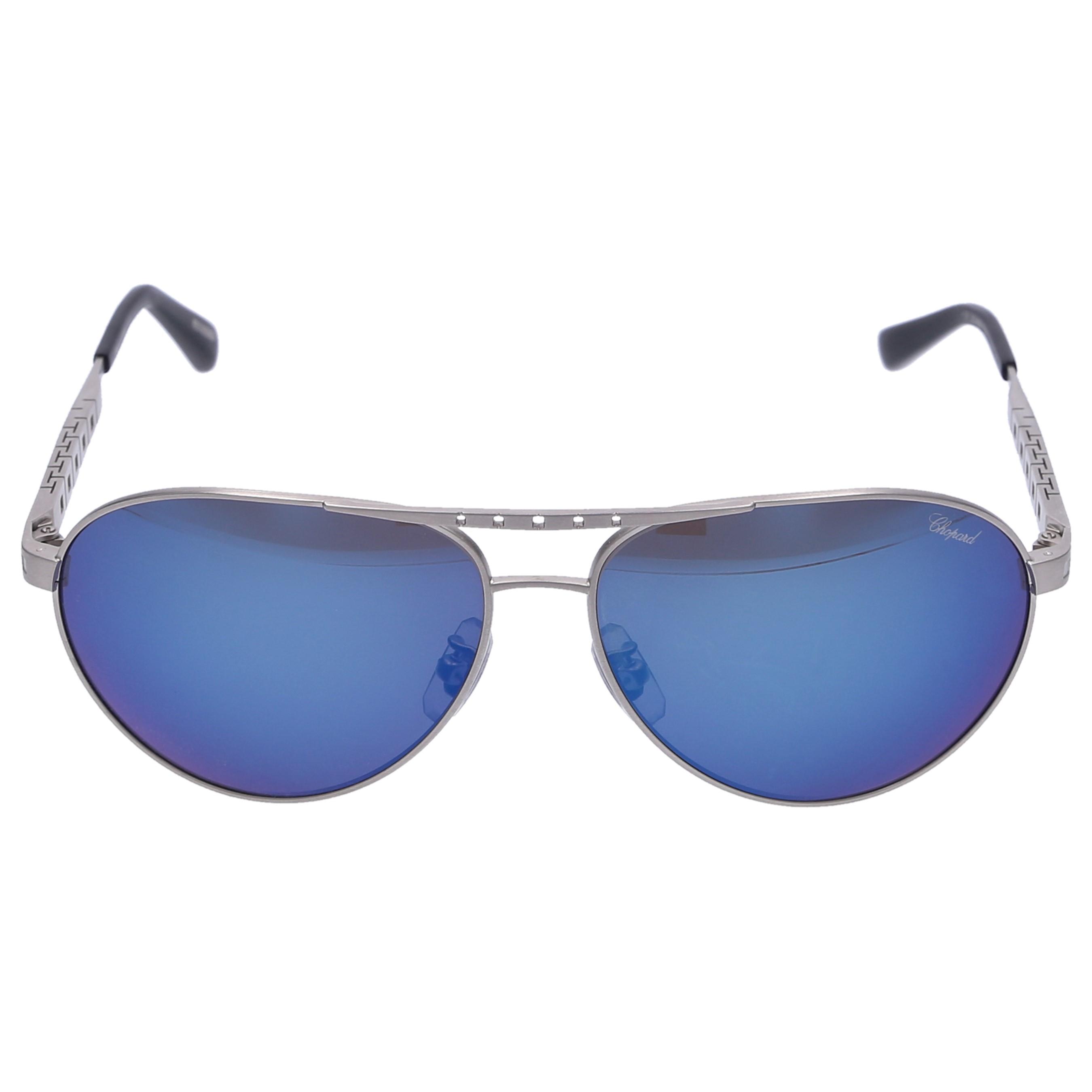 Chopard Sonnenbrille Aviator B01 S80P Titan silber