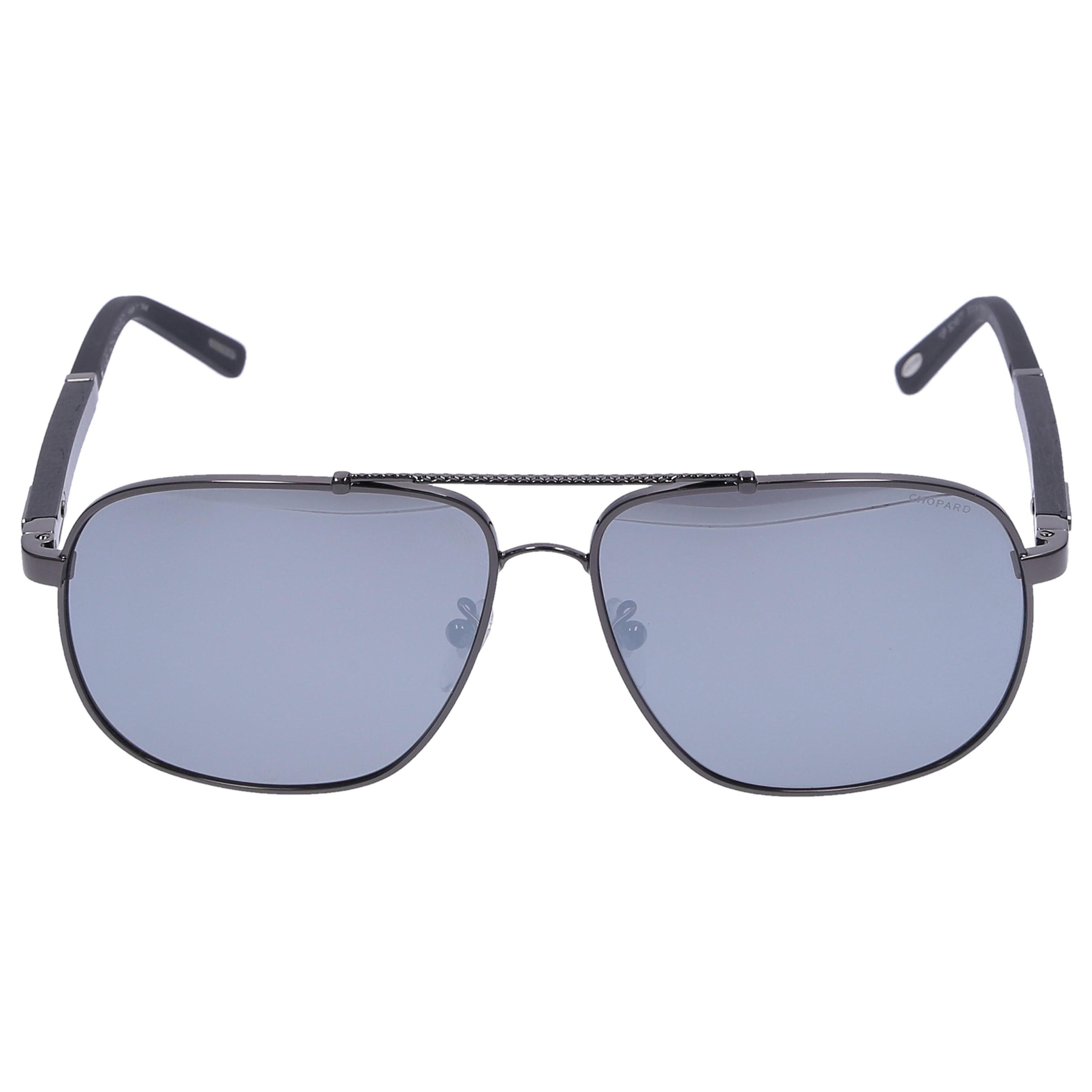 Chopard Sonnenbrille Aviator B77 300P Verspiegelt Carbon Metall schwarz
