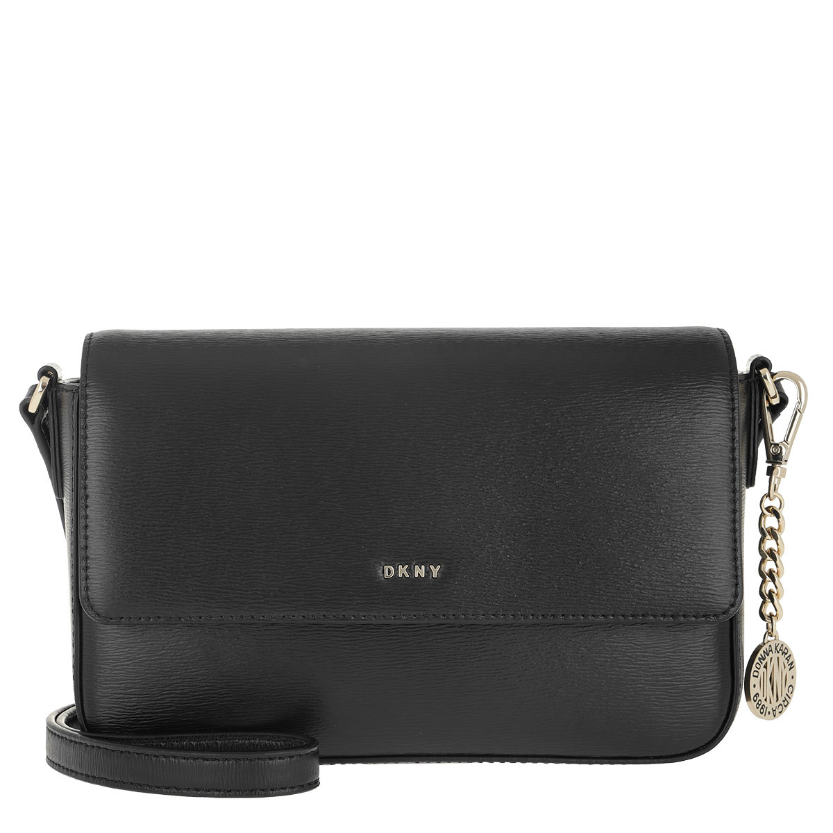 DKNY Umhängetasche - Bryant Medium Crossbody Bag Black/Gold - in schwarz - für Damen