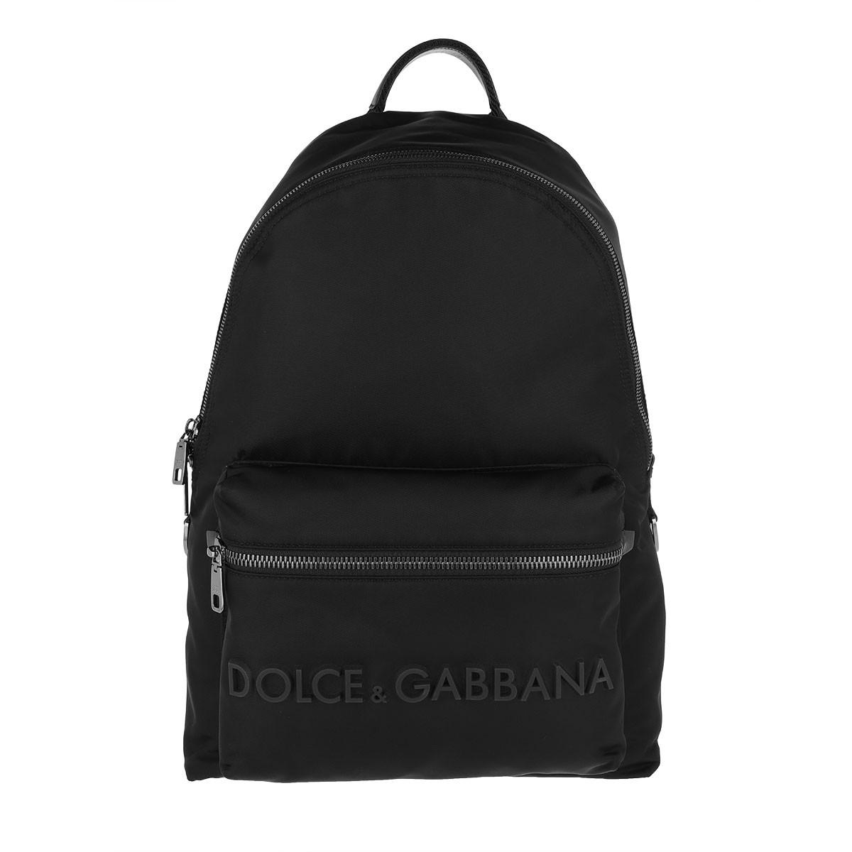 Dolce&Gabbana Rucksack - Vulcano Backpack Nylon Black - in schwarz - für Damen