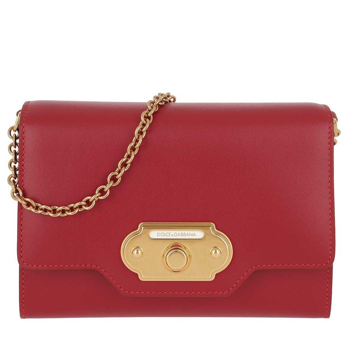 Dolce&Gabbana Umhängetasche - Welcome Mini Bag Rosso Papavero - in rot - für Damen