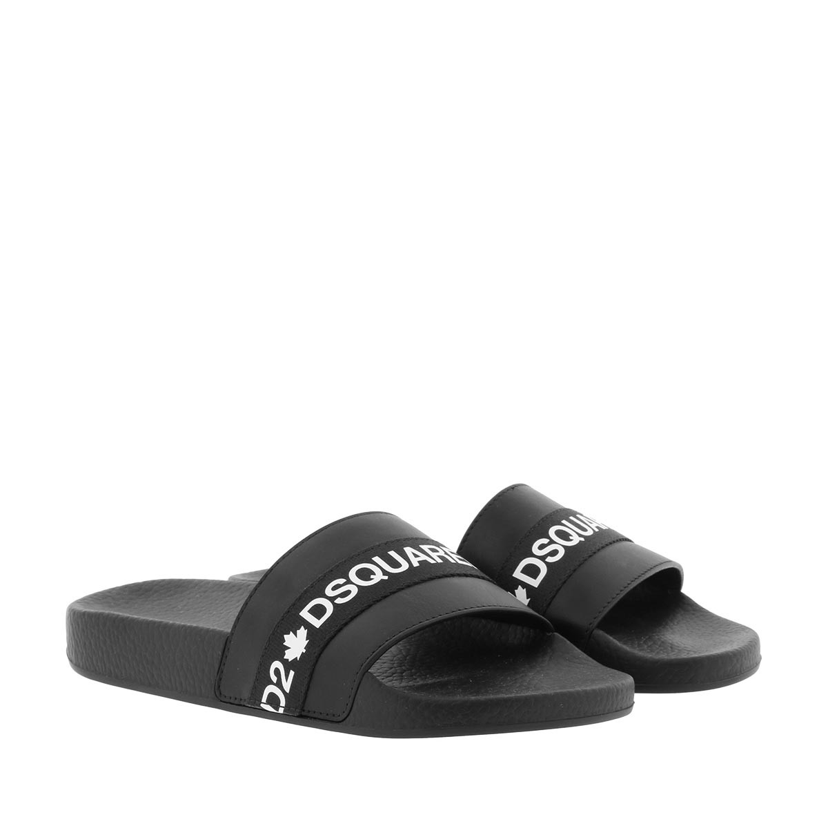 Dsquared2 Schuhe - DSquared Slides Black/White - in schwarz - für Damen