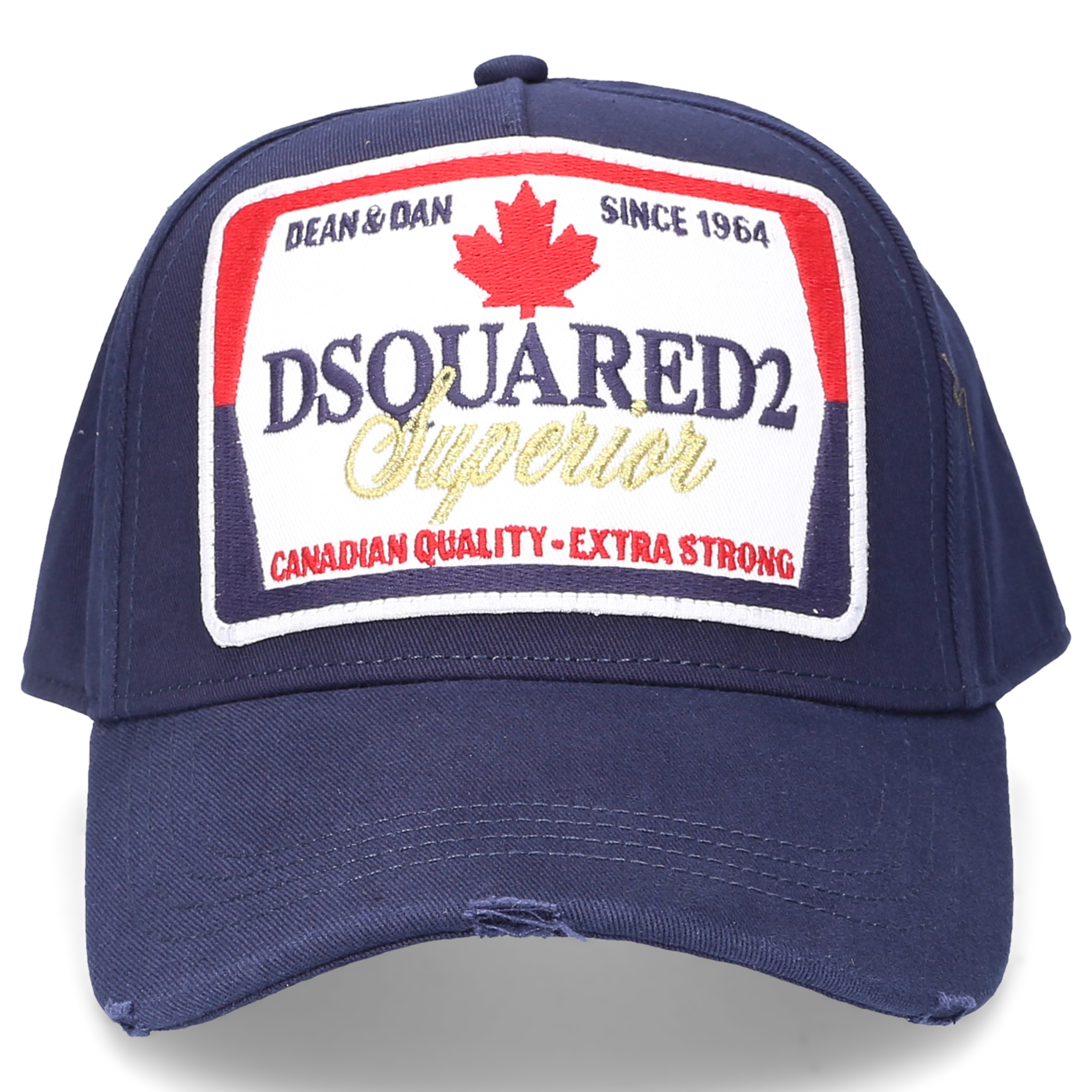 Dsquared2 Snapback cap ICON Gabardine Logo Stickerei blau
