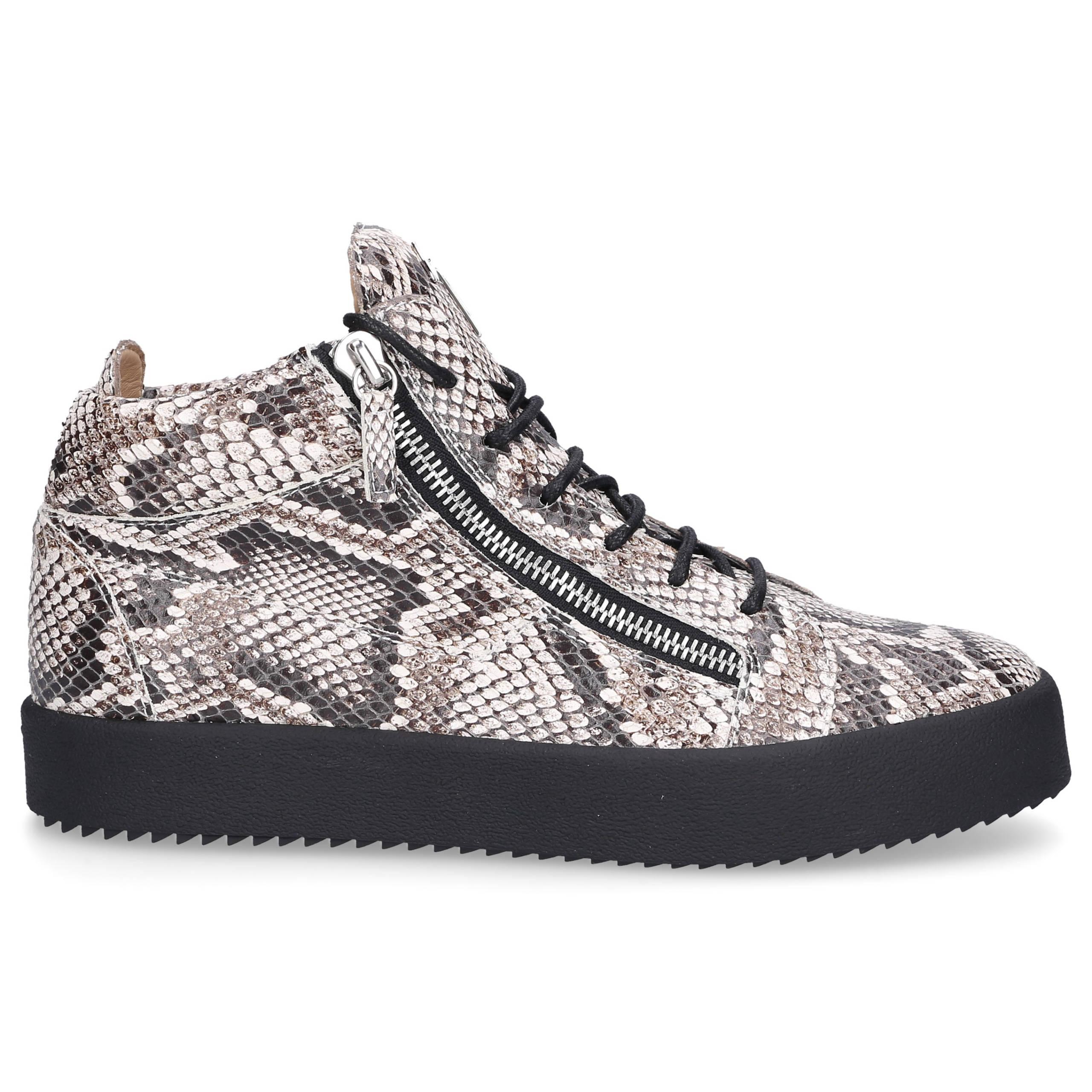 Giuseppe Zanotti Sneaker high KRISS PHYTON Kalbsleder Logo Print grau