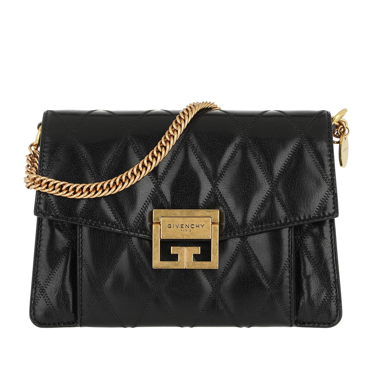 Givenchy Umhängetasche - Small GV3 Bag Diamond Quilted Leather Black - in schwarz - für Damen