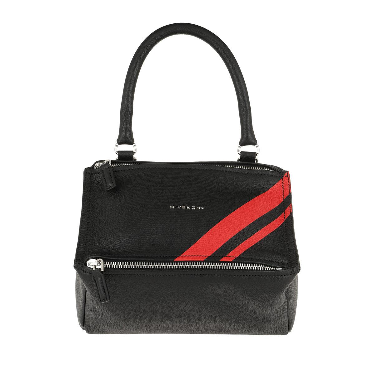 Givenchy Umhängetasche - Small Pandora Bag Leather Black/Red - in schwarz - für Damen